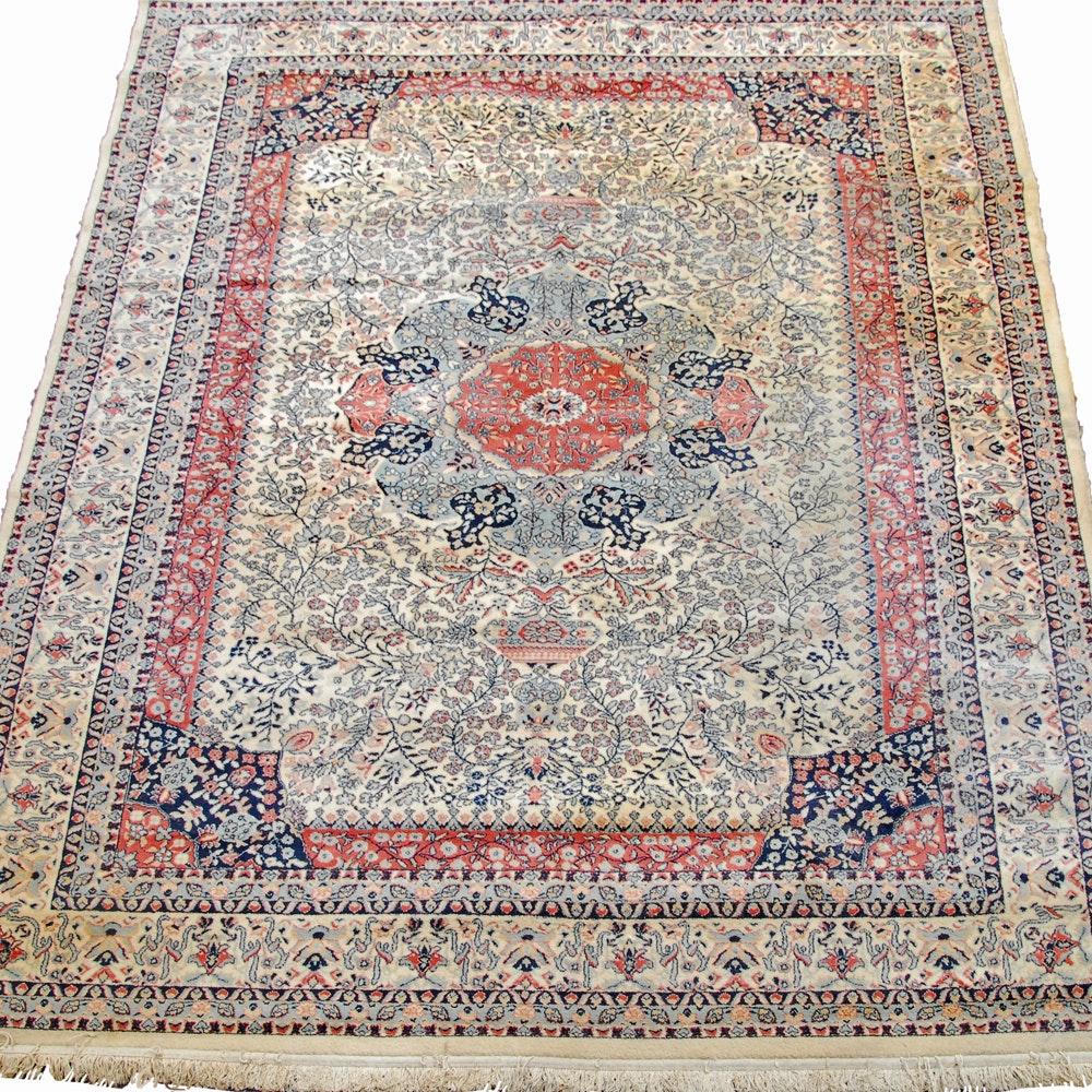 "Power-Loomed Bulgarian ""Tabriz"" Wool Area Rug by Home Dynamix"