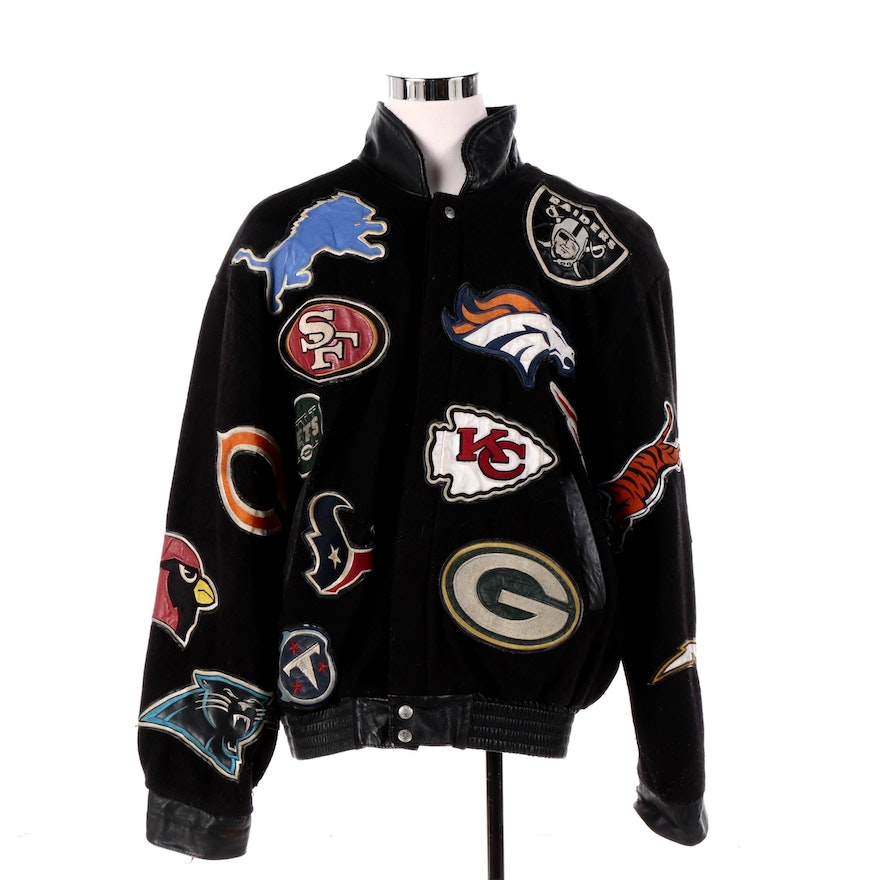 buy online fdab9 1804d Men's Jeff Hamilton Reebok Limited Edition NFL Jacket