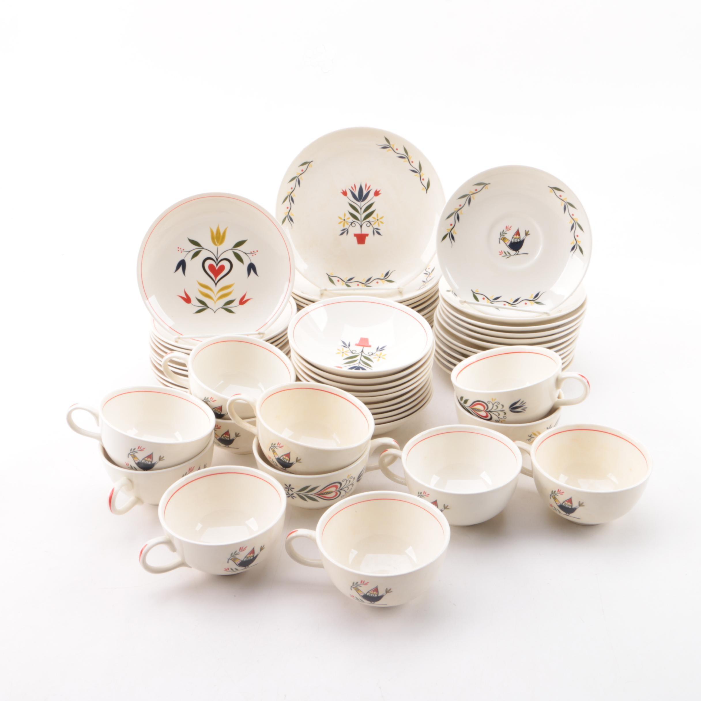 Vintage Scandinavian Inspired Ceramic Dinnerware