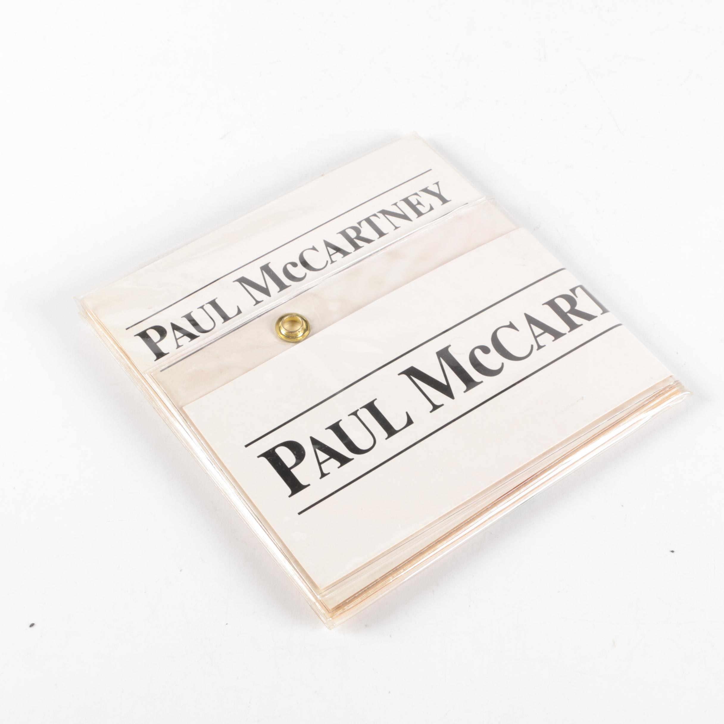 "1990 Paul McCartney ""Press Conferences"" 7"" Single Record Set"