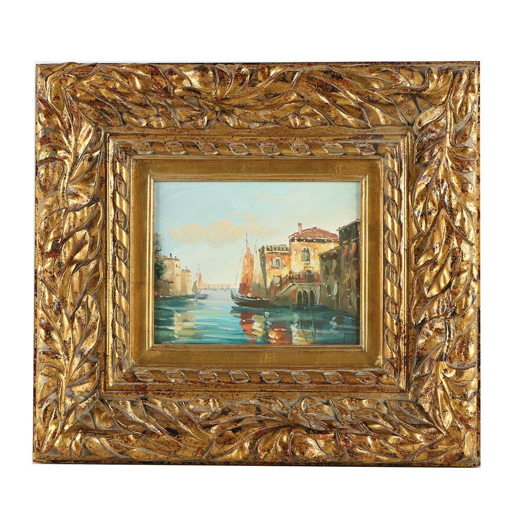 20th Century Nautical Oil Painting