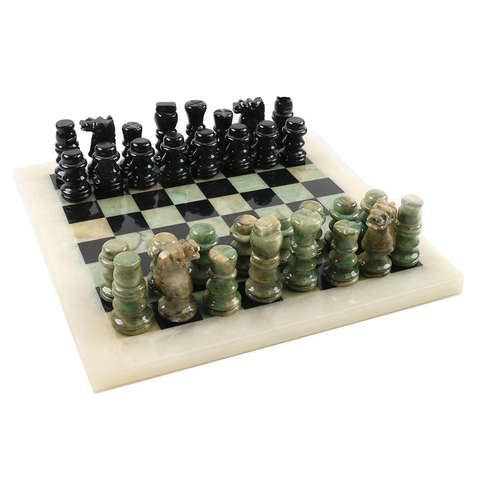 Marble and Alabaster Chess Set
