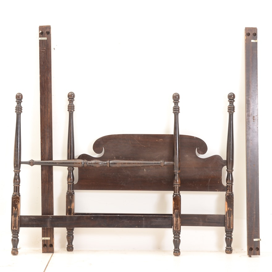 Three-Quarter Size Cannonball Bed Frame : EBTH