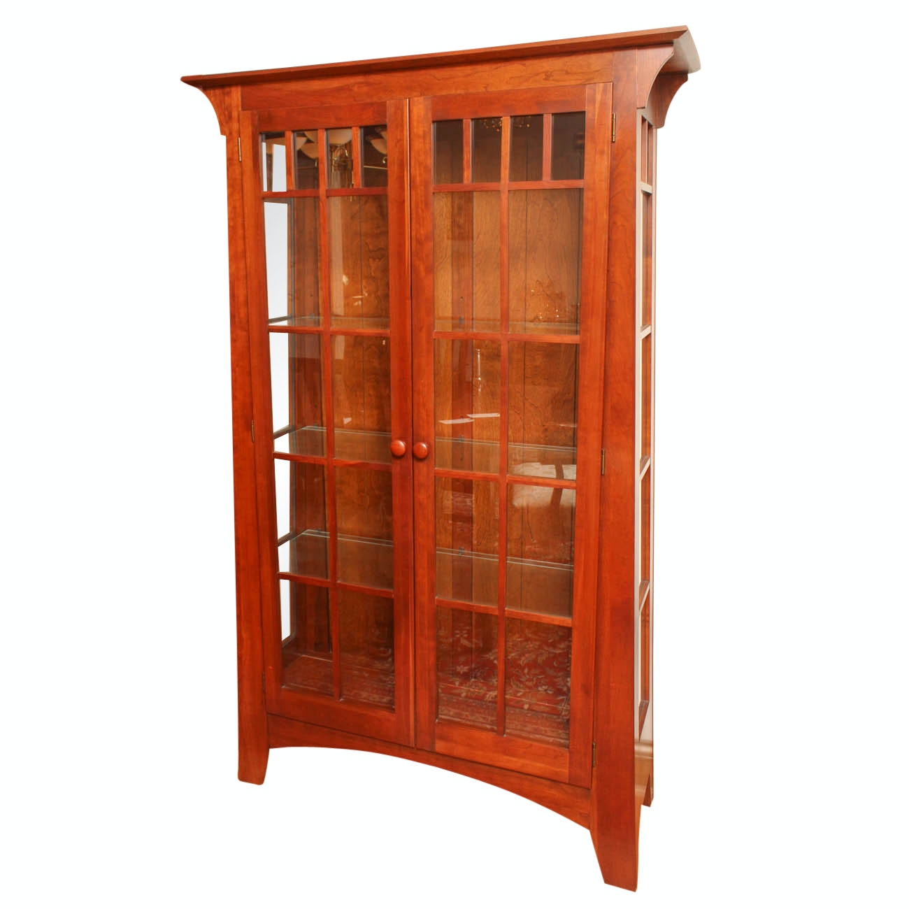 "Ethan Allen ""American Impressions"" Illuminated China Cabinet"