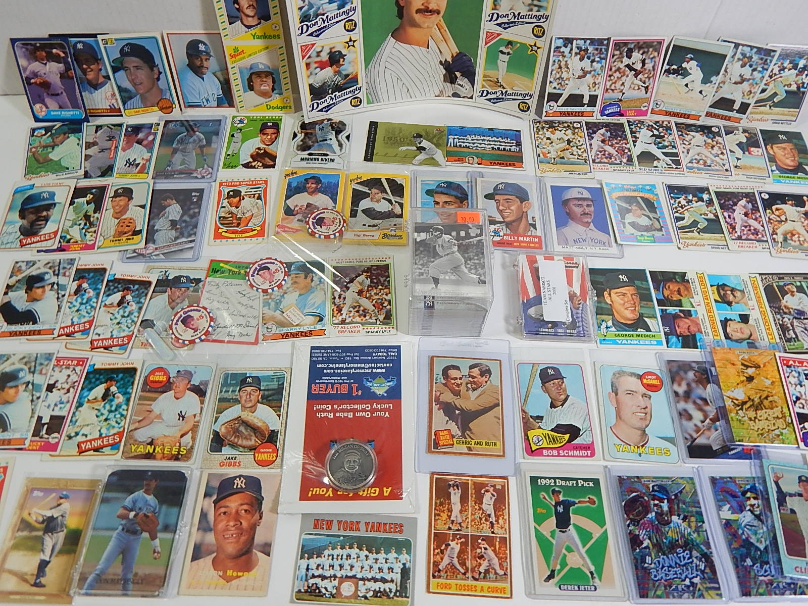 New York Yankees Card and Memorabilia Collection - Around 200 Card Count