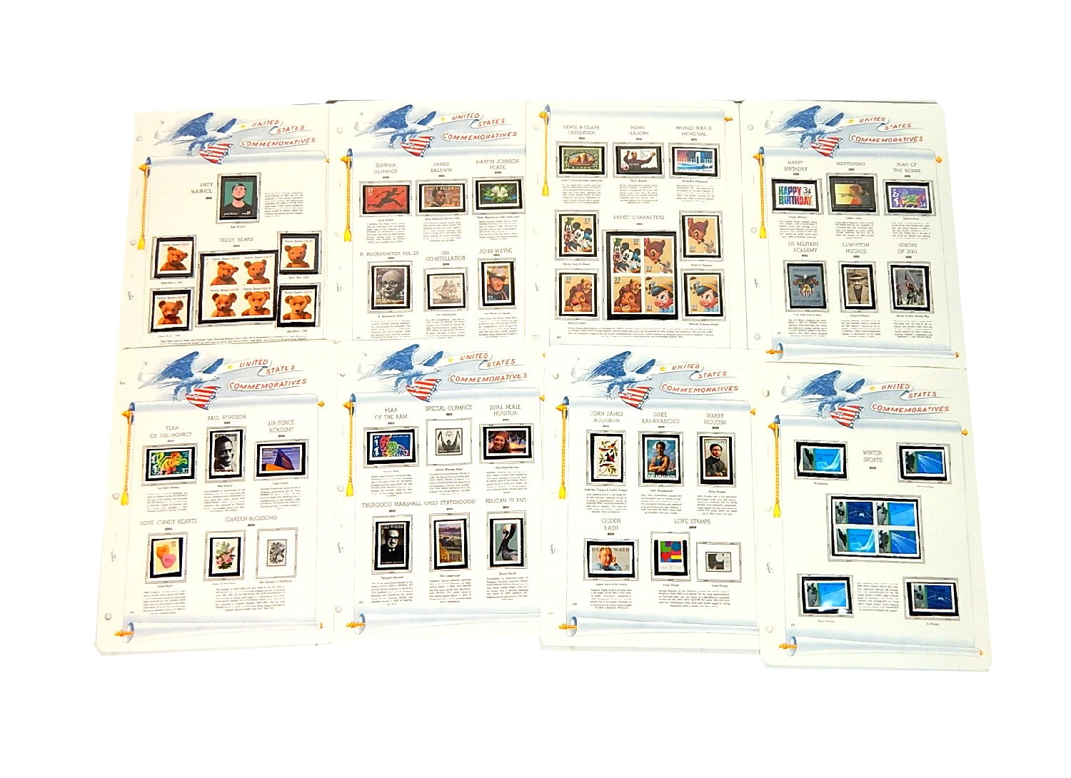 U.S. Commemorative Stamps with Disney Characters, Winter Sports, Audubon