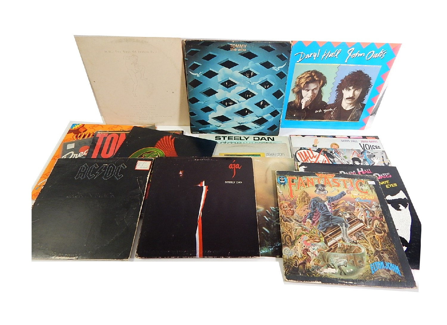 Vintage 33 RPM Classic Rock Record Albums and More