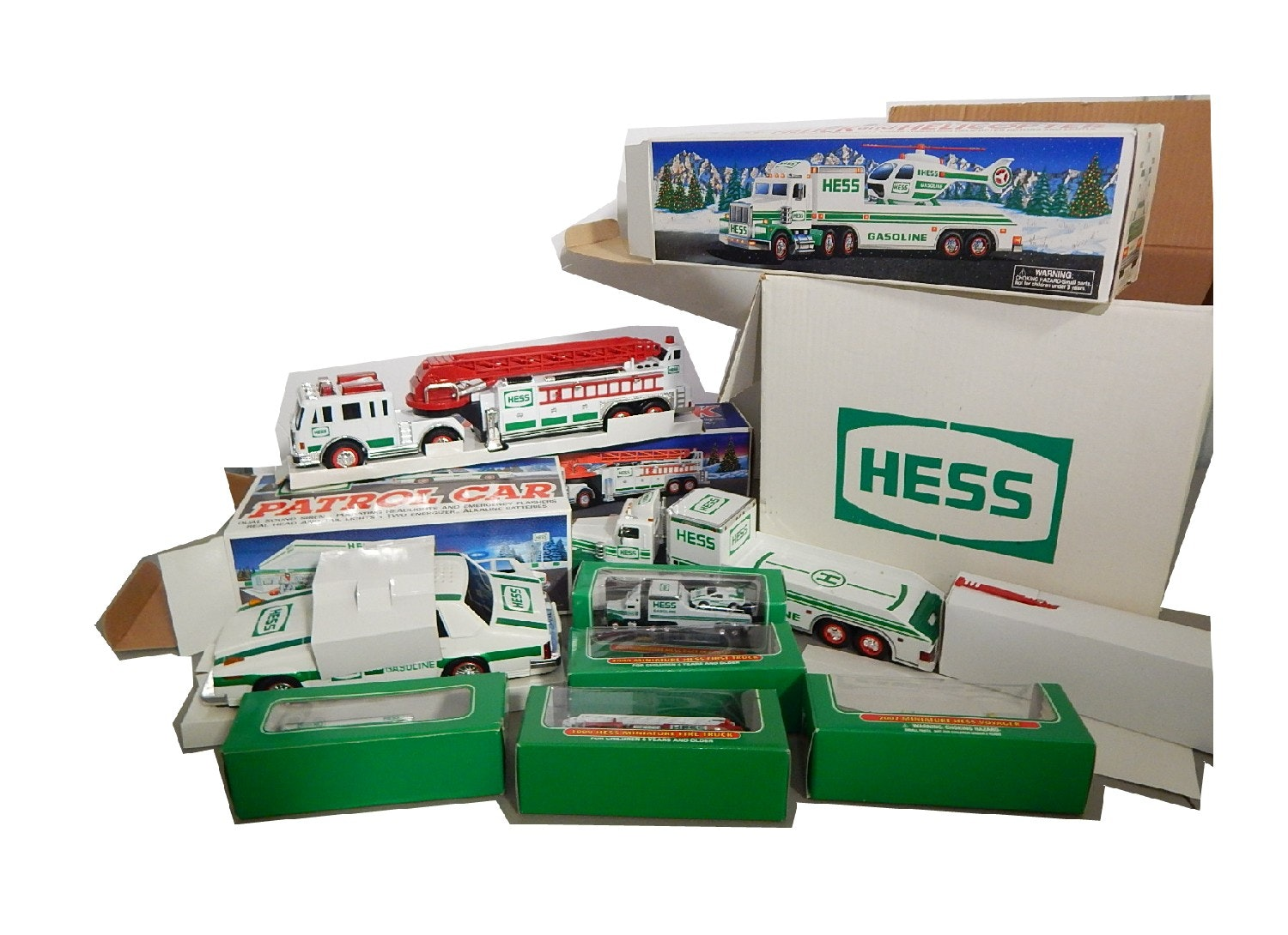 Collection of HESS Toy Trucks