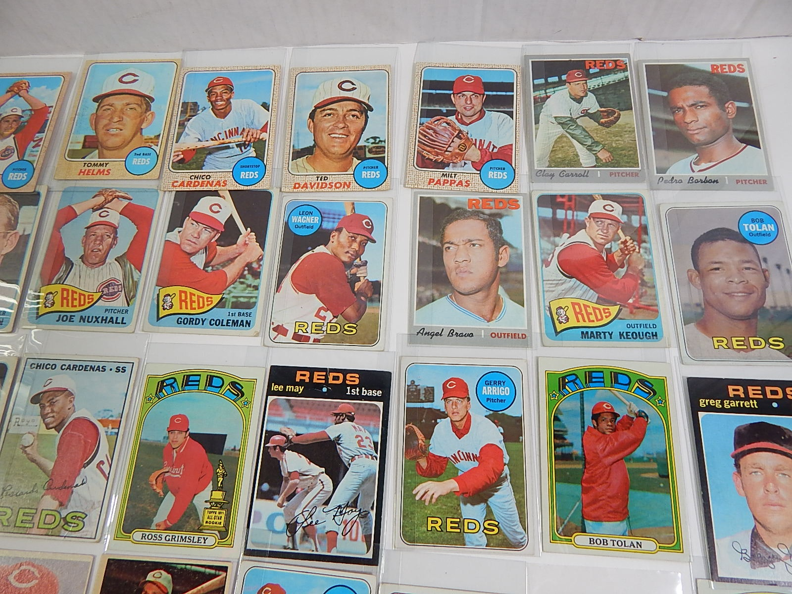 Cincinnati Reds Card Collection from 1957 to 1972 - 65 Card Count