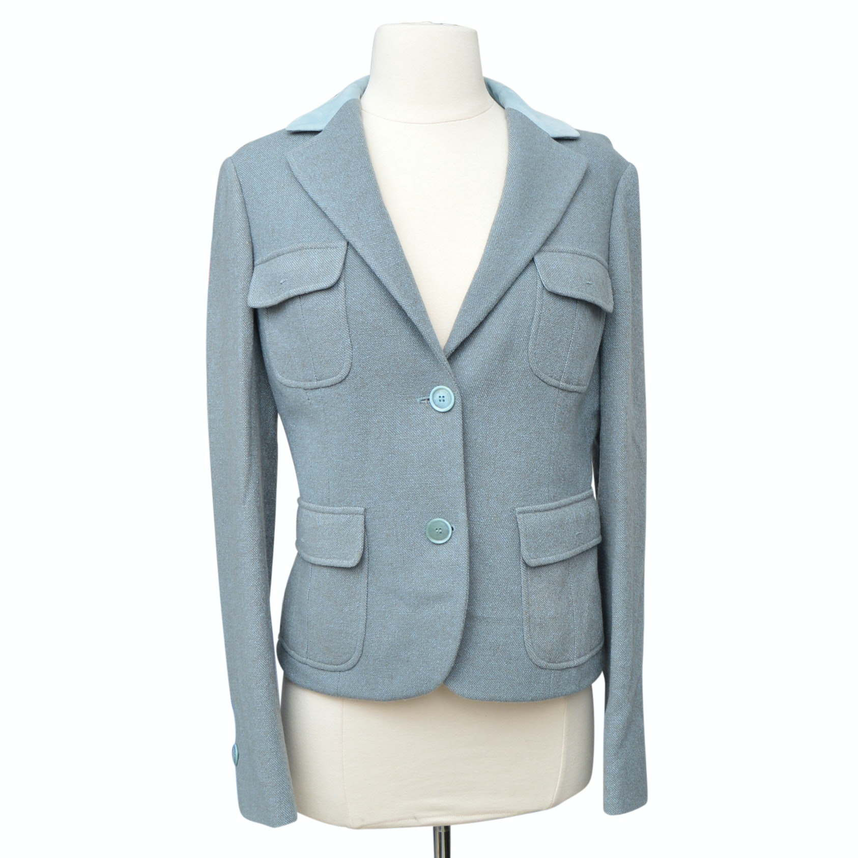 Women's Loro Piana Cashmere Jacket with Suede Collar