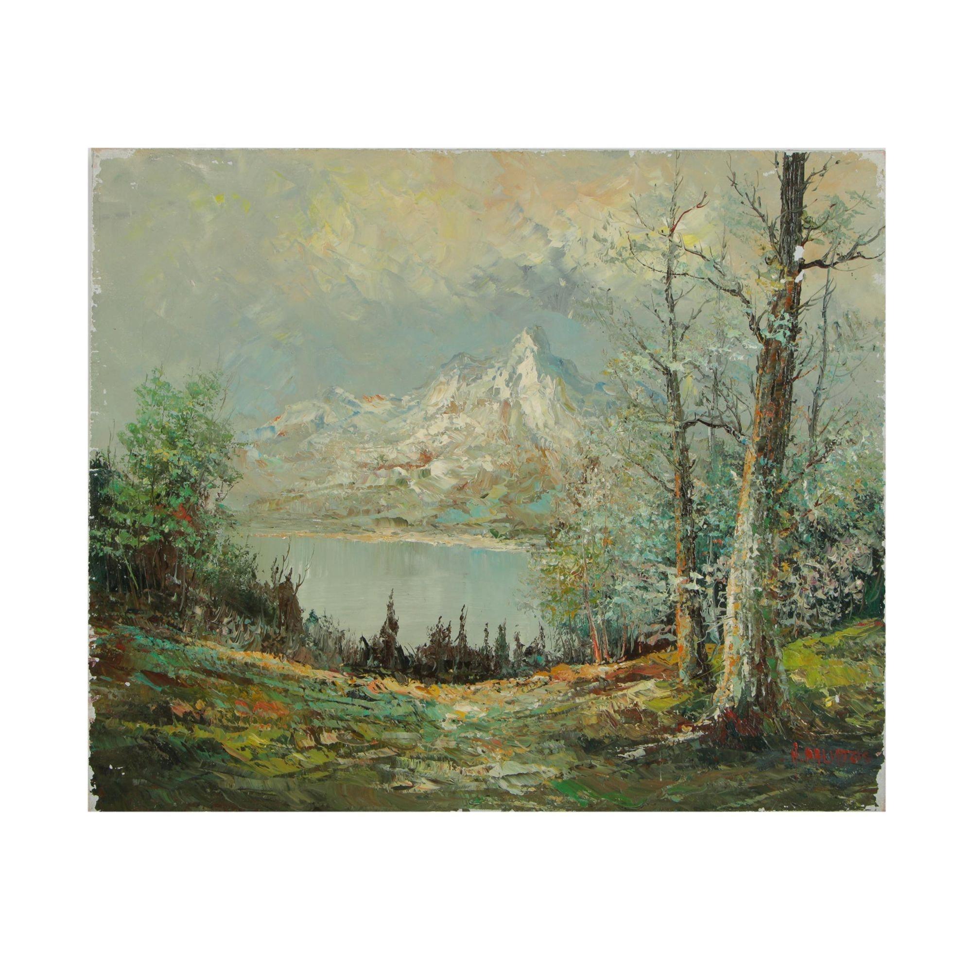 Twentieth Century Landscape Oil Painting