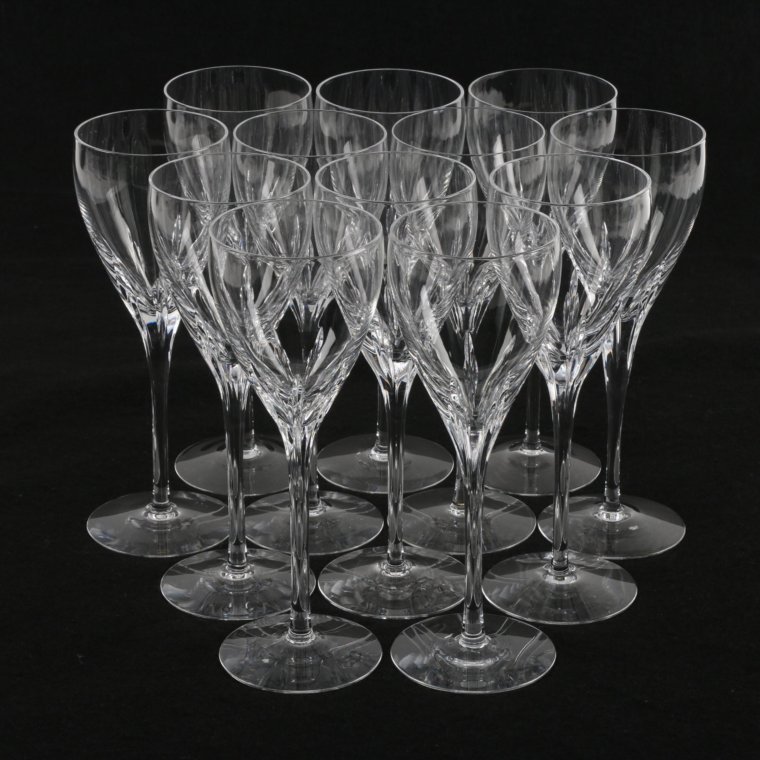 "Lenox ""Firelight"" Crystal Wine Glasses"