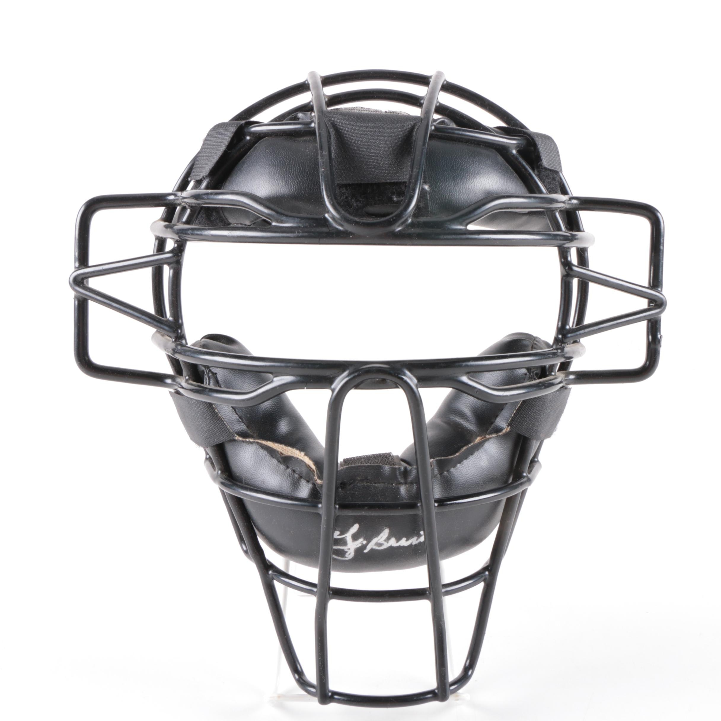 Yogi Berra Autographed Pro Custom Catcher's Mask
