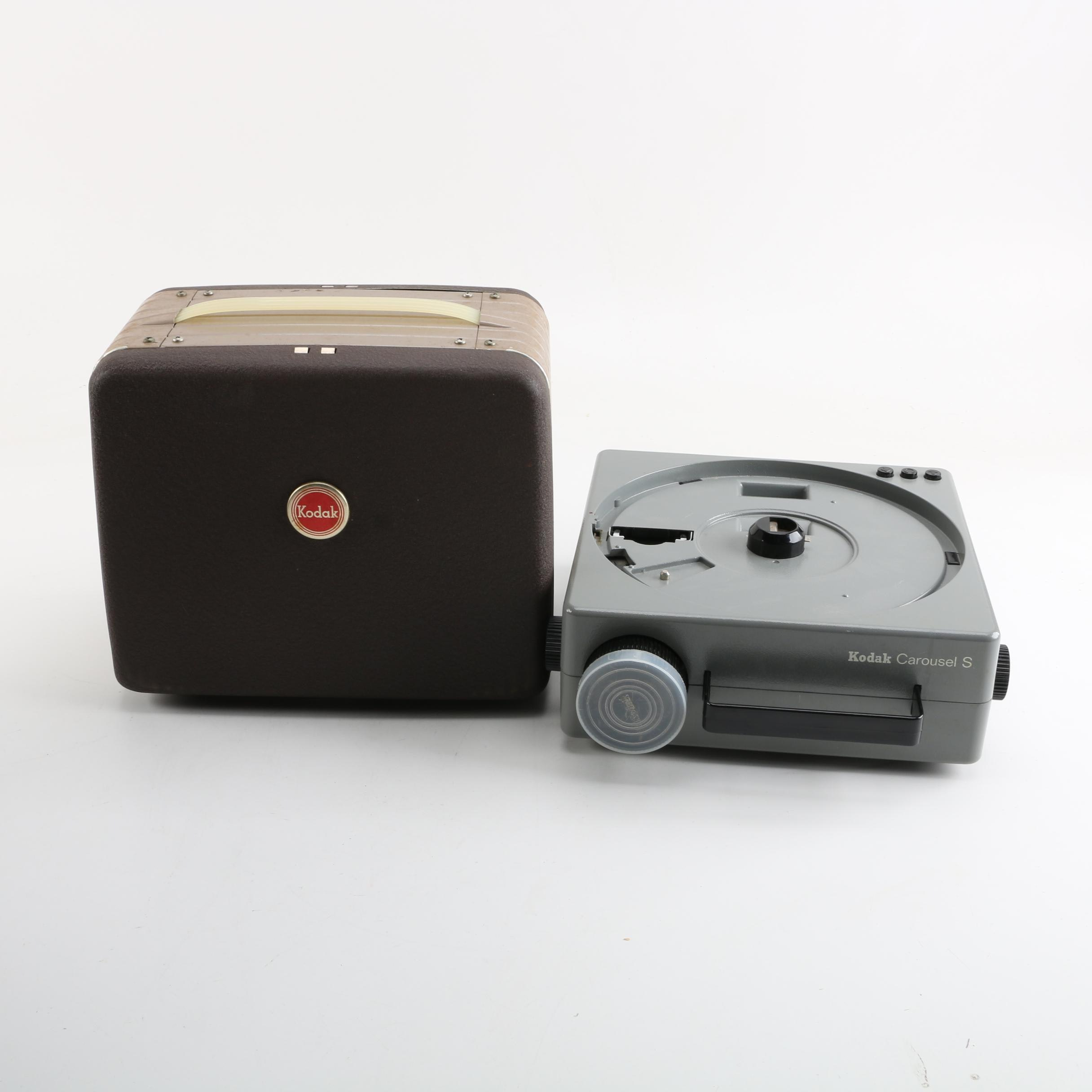 Vintage Kodak Brownie 8mm Movie Projector and Carousel S Slide Projector