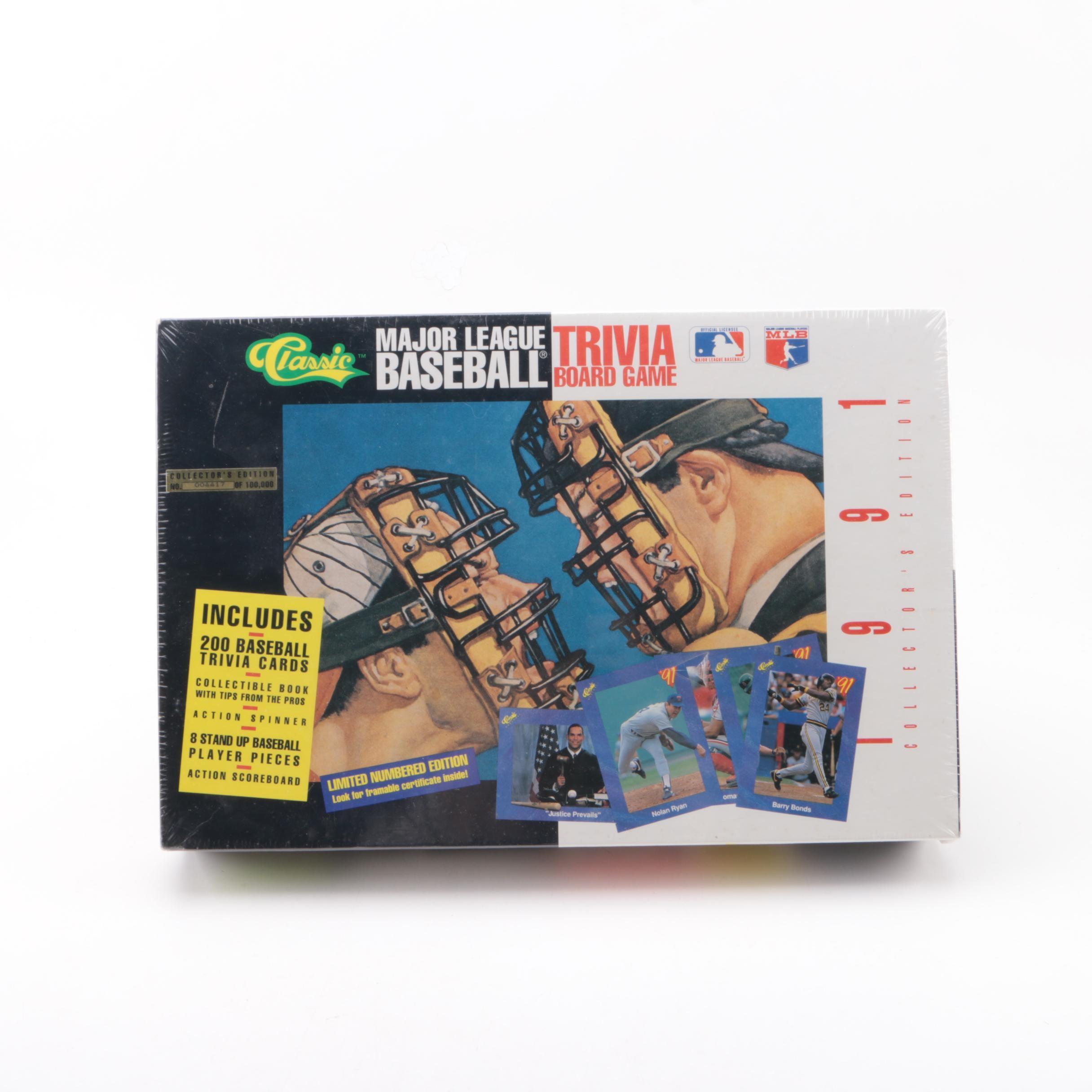 "1991 Classic Collector's Edition ""Major League Baseball Trivia"" Board Game"