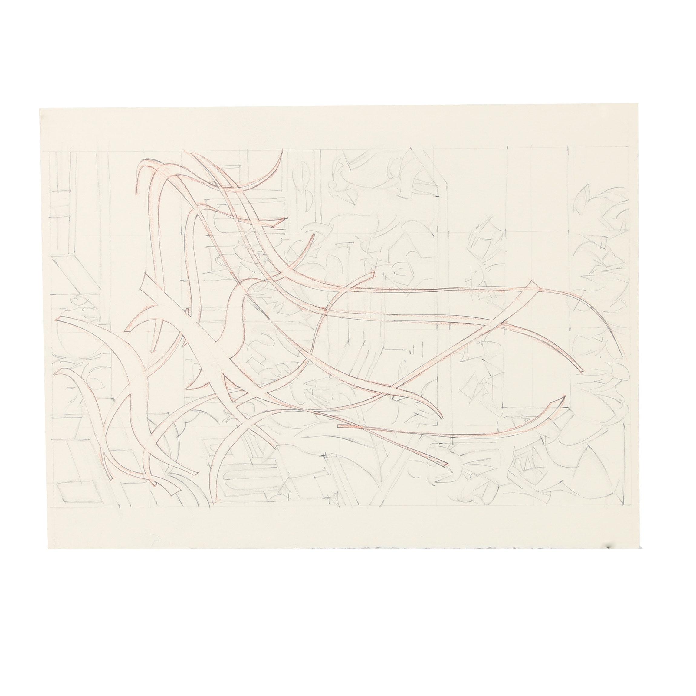 Ricardo Morin Graphite Drawing