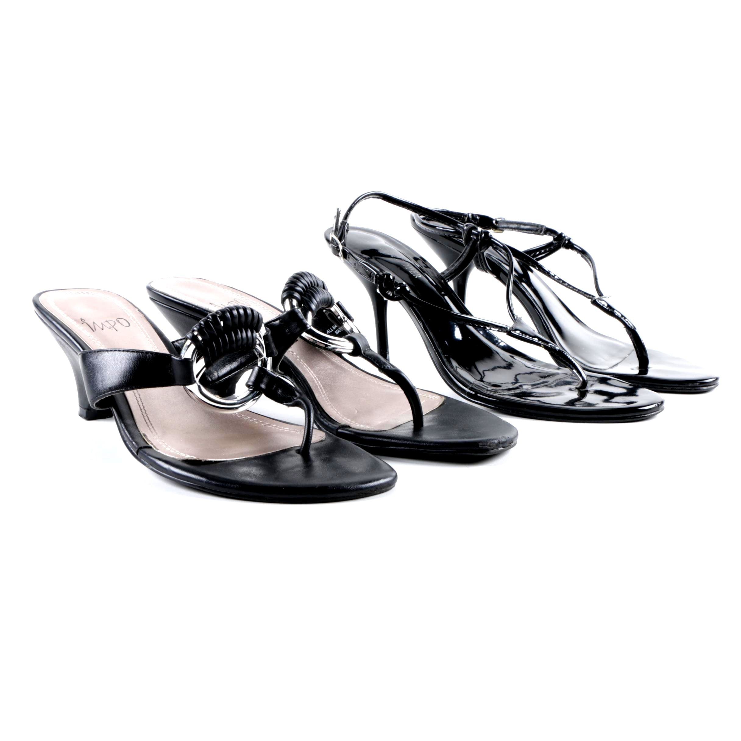 Women's Boston Proper and Impo Heeled Sandals in Black