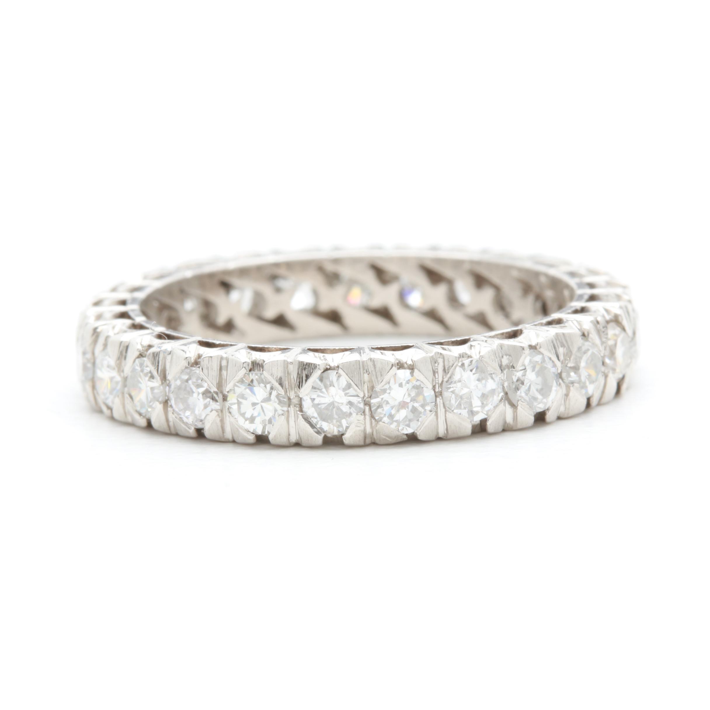 Platinum Palladium 1.50 CTW Diamond Ring