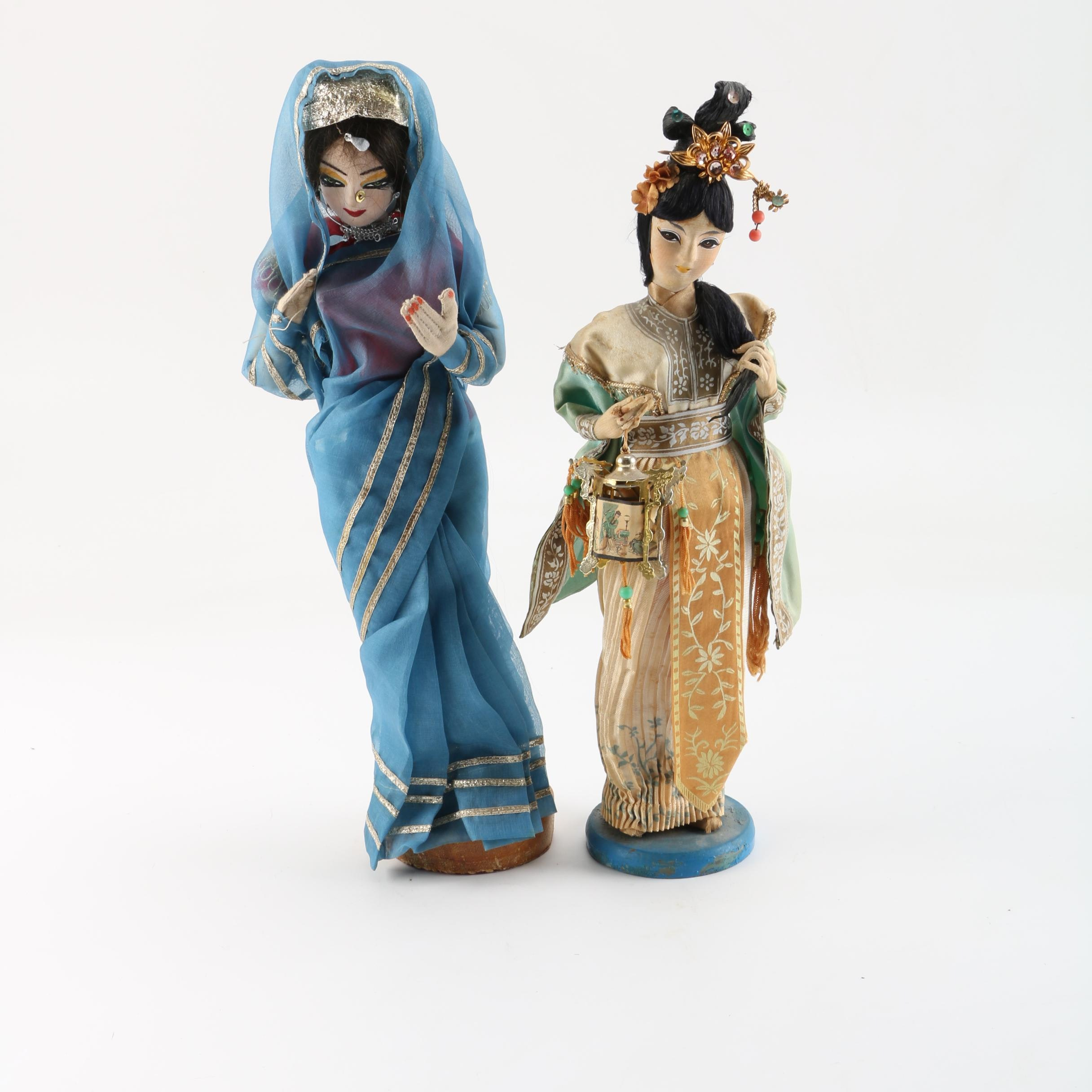 Indian and Chinese Decorative Dolls