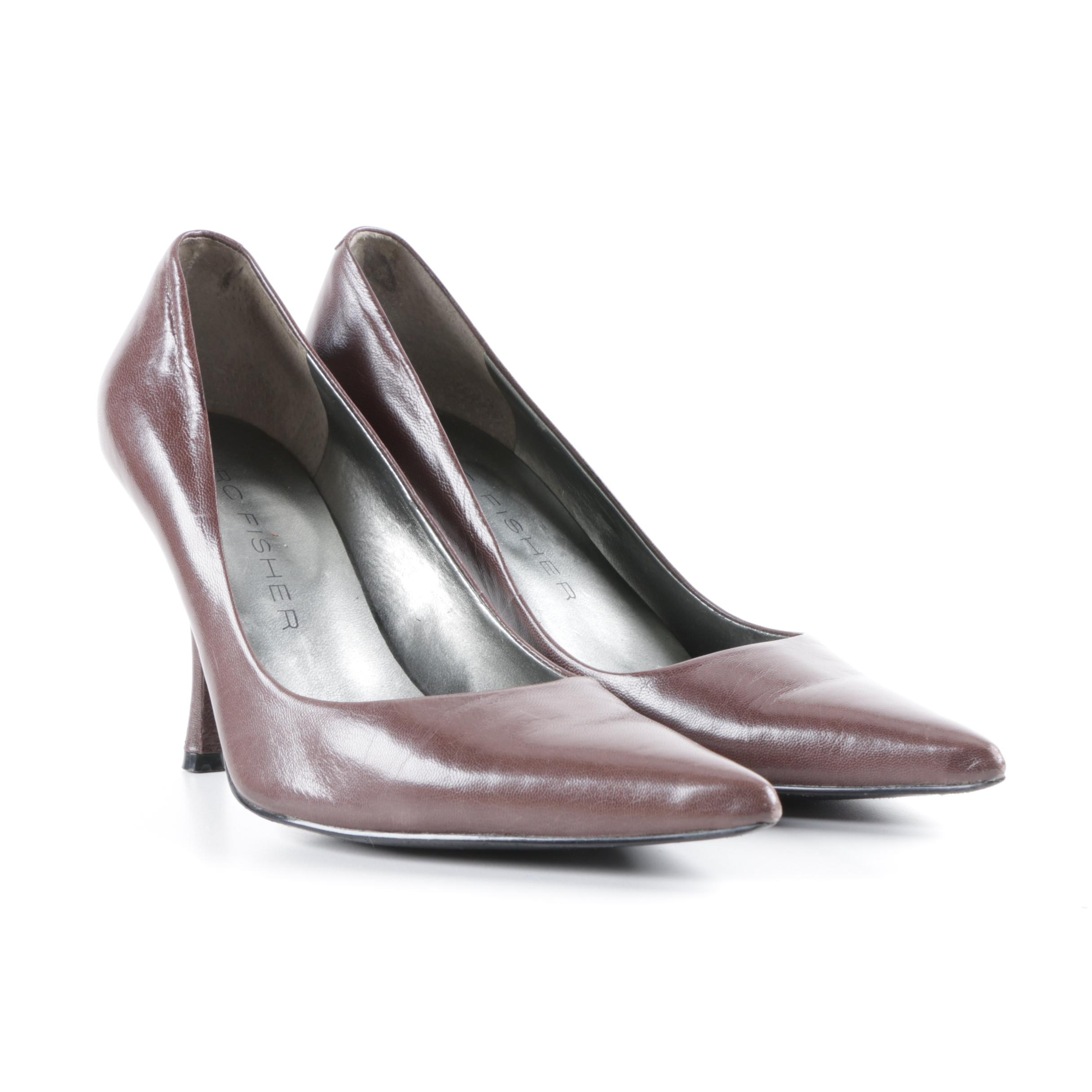 Marc Fisher Brown Leather Dress Pumps