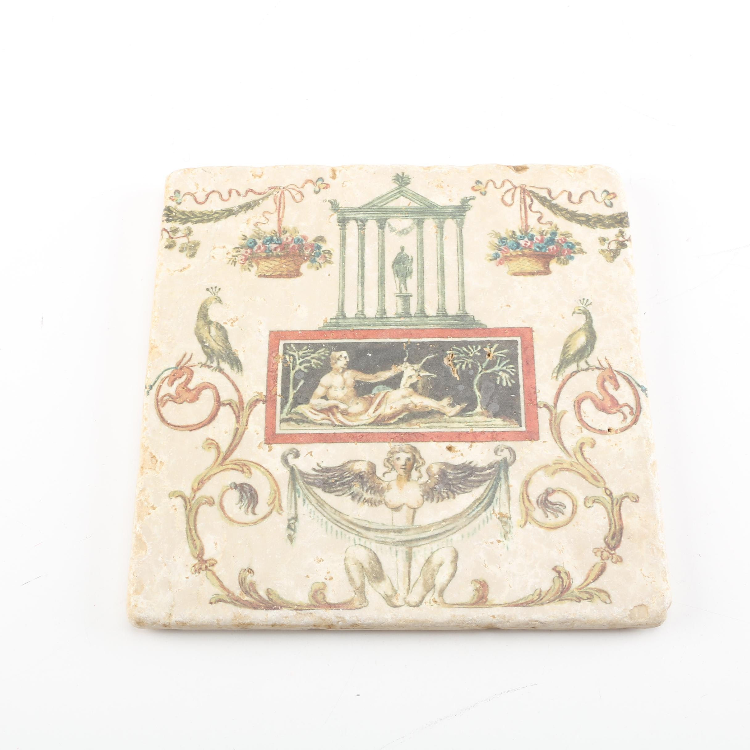 Studio Vertu Vatican Library Collection Ceramic Trivet