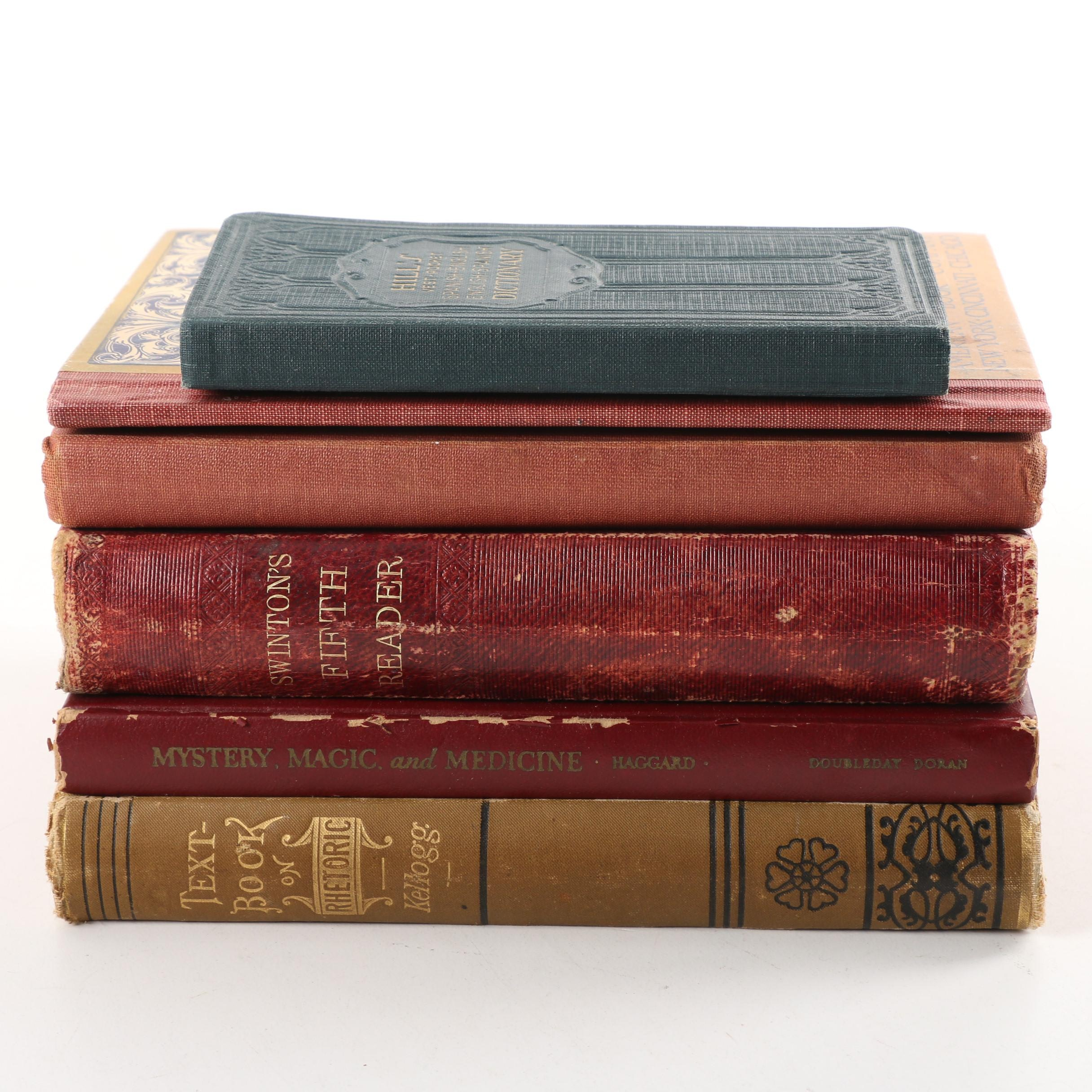 Antique and Vintage School Books and Dictionaries