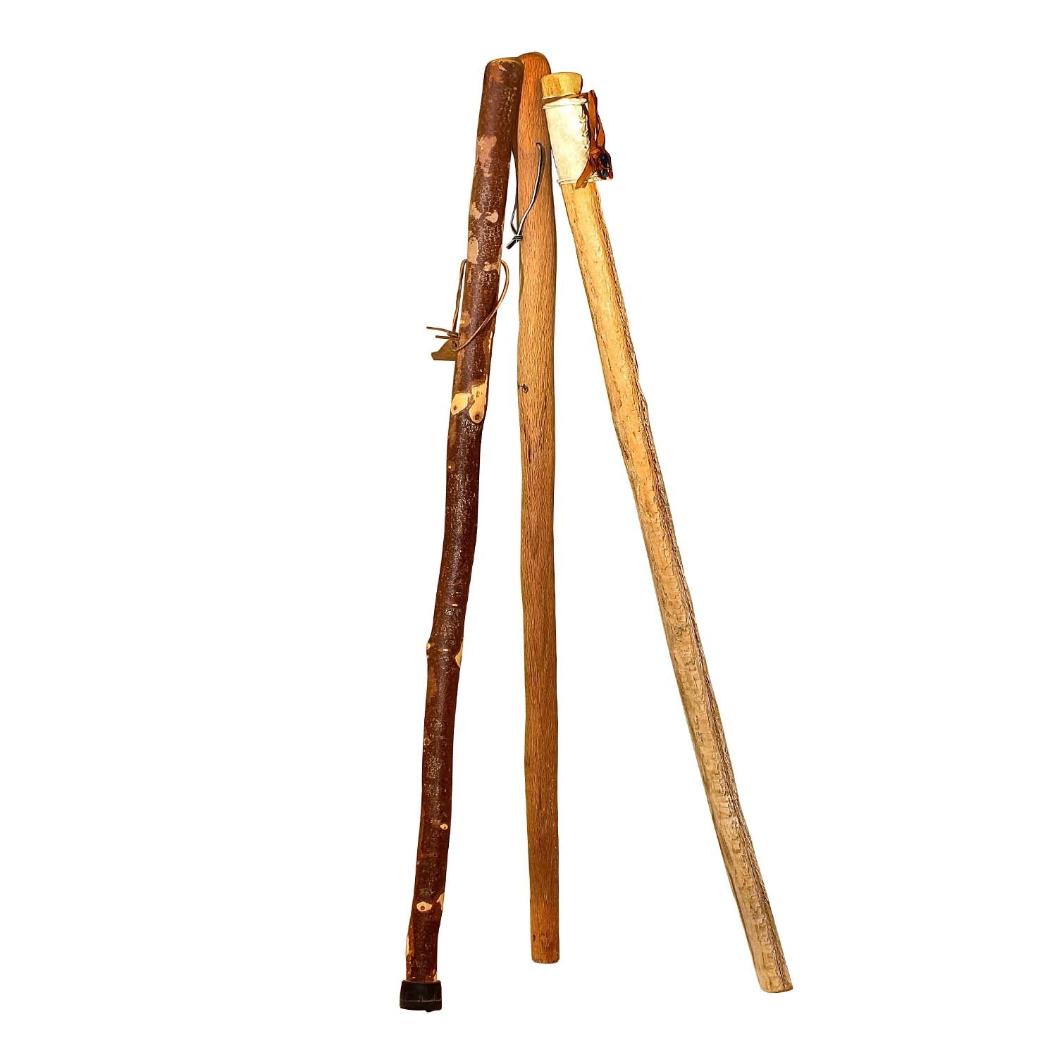 Hand Carved Walking Sticks Including Whistle Creek