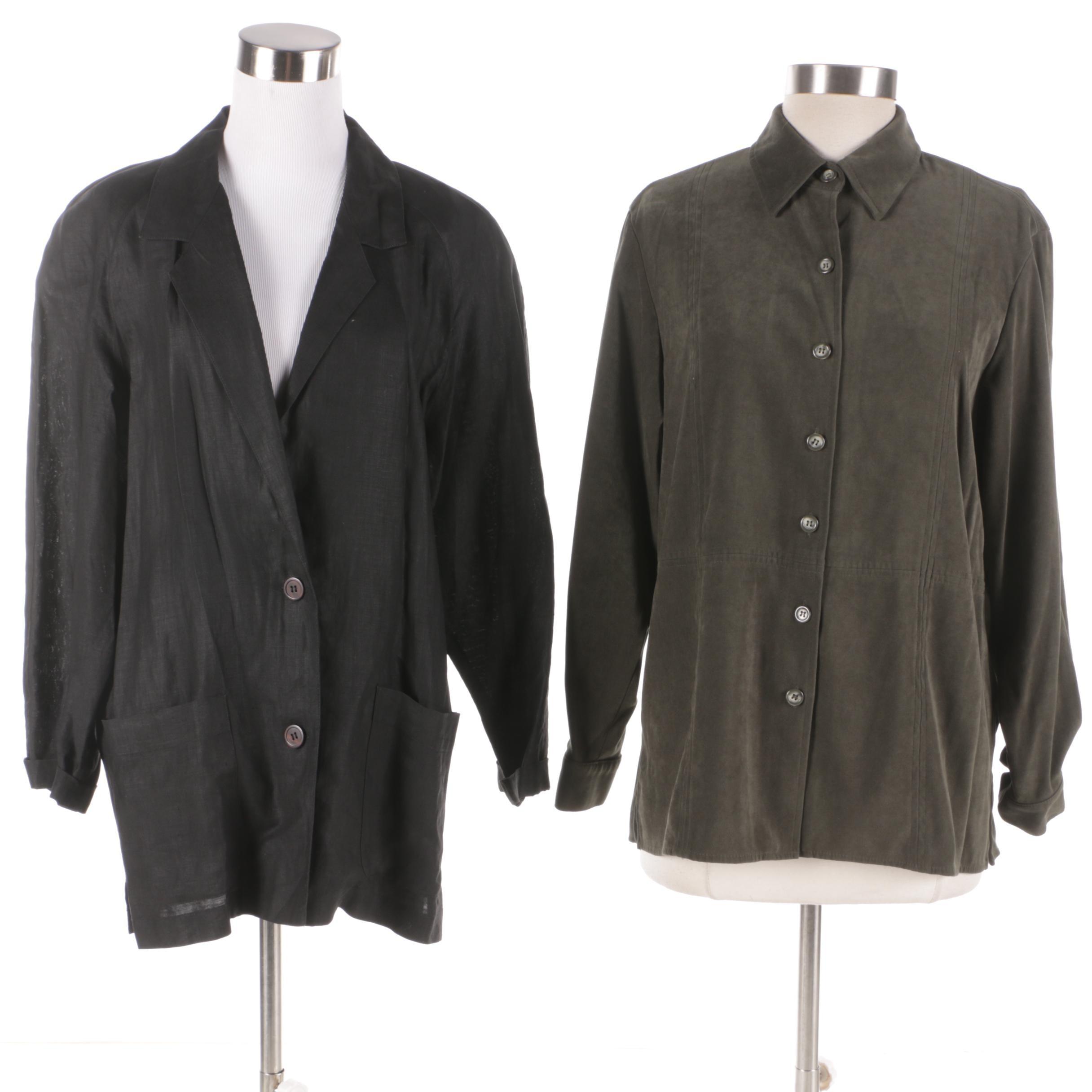 Talbots Shirt and Linen Jacket