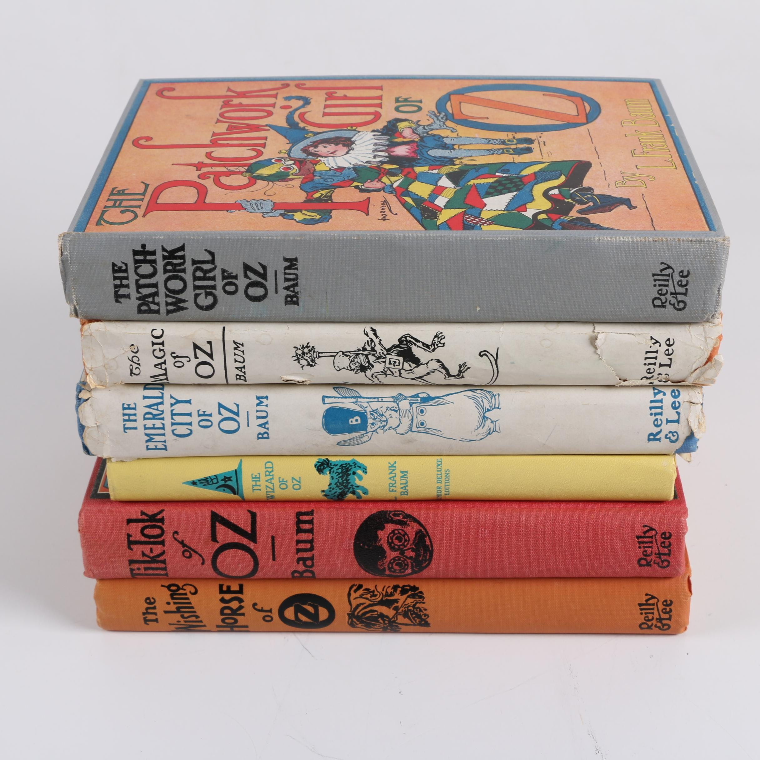 """Vintage """"The Wizard of Oz"""" Series Books by L. Frank Baum"""