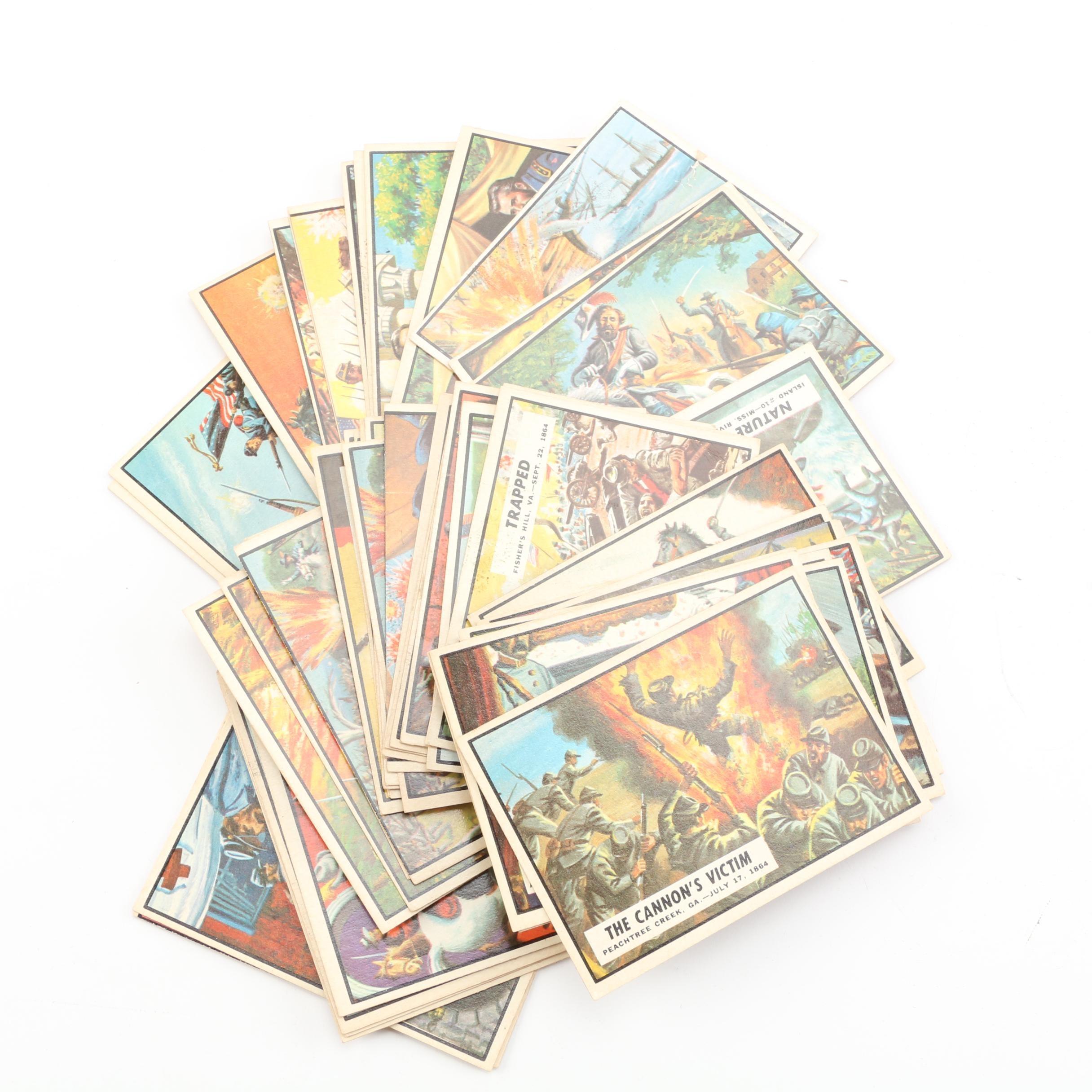"1962 Topps ""Civil War News"" Trading Cards"