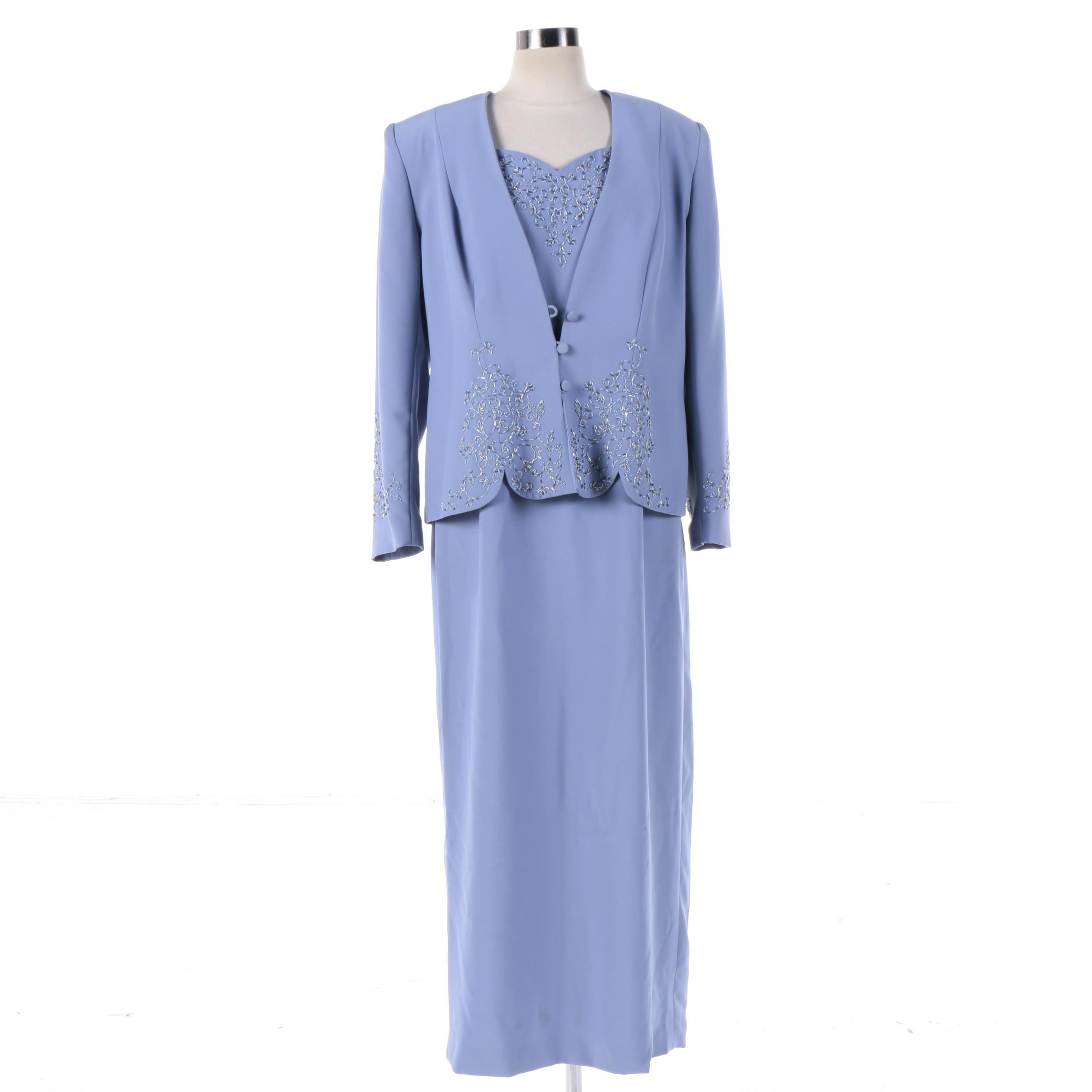Women's Obsessions Couture Formal Dress Suit with Beading