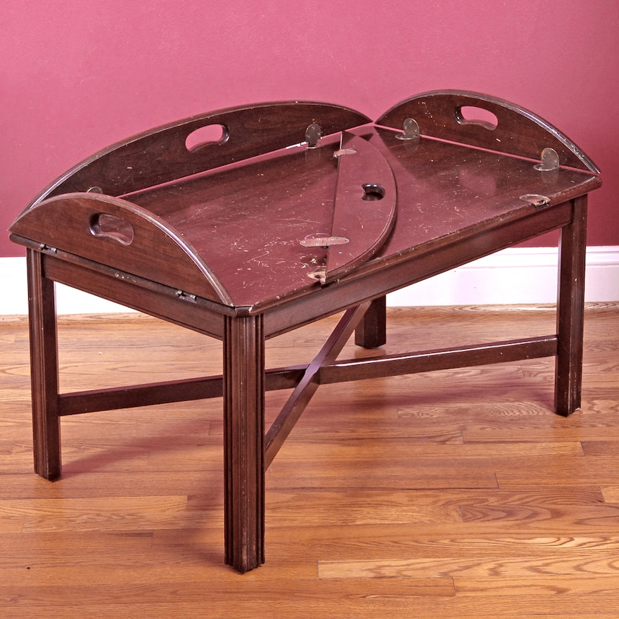 Butler S Tray Coffee Table By Ethan Allen Ebth