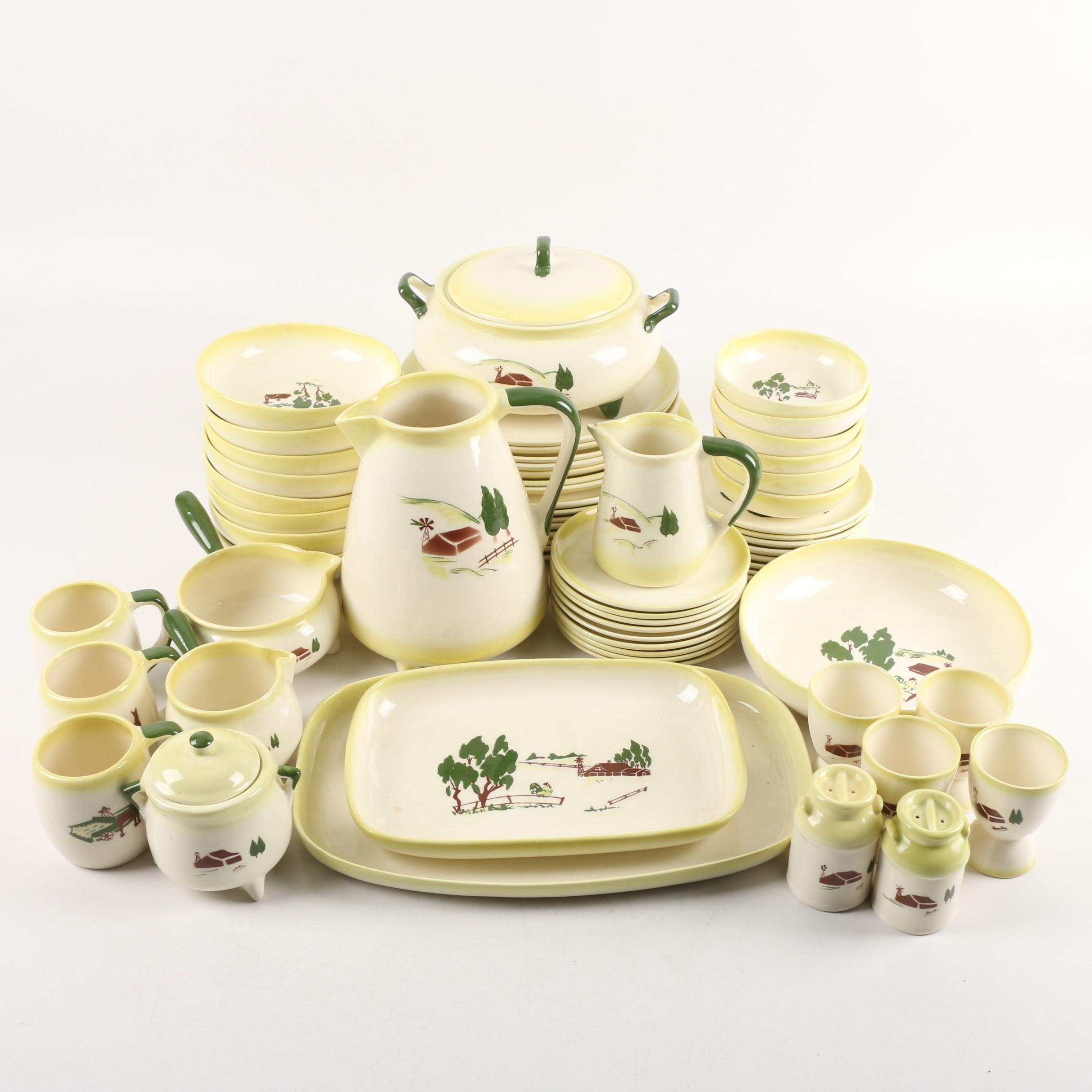 "Mid-century Brock of California ""Harvest"" Ceramic Tableware"