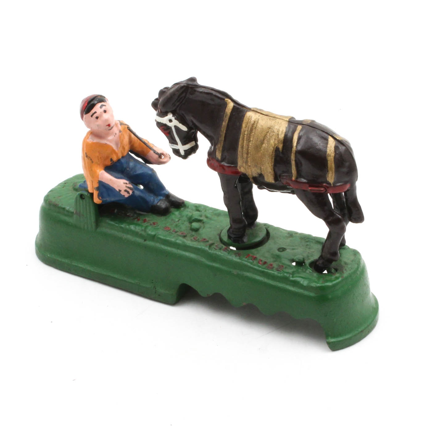 """""""Always Did 'Spise a Mule"""" Reproduction Cast Iron Mechanical Bank"""