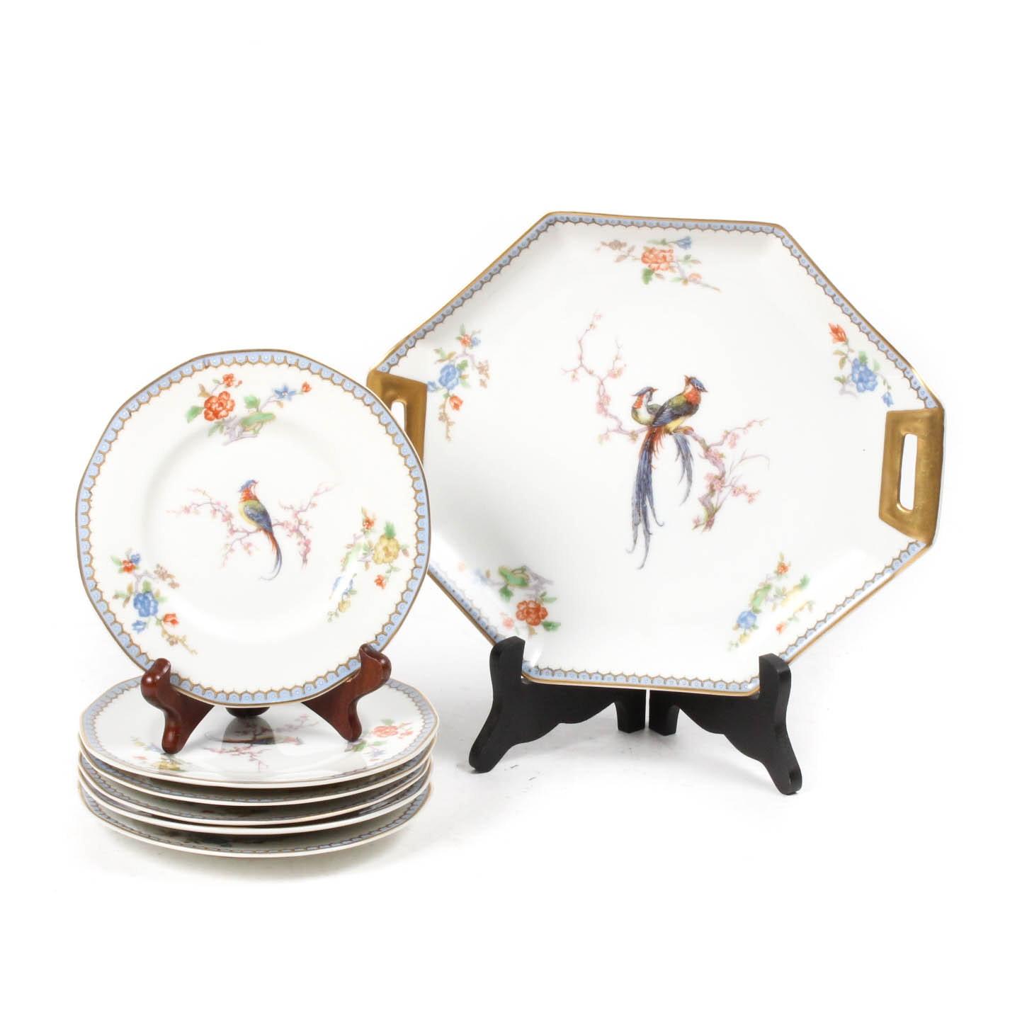 """Vintage Haviland Limoges """"Paradise"""" Dessert Set"""