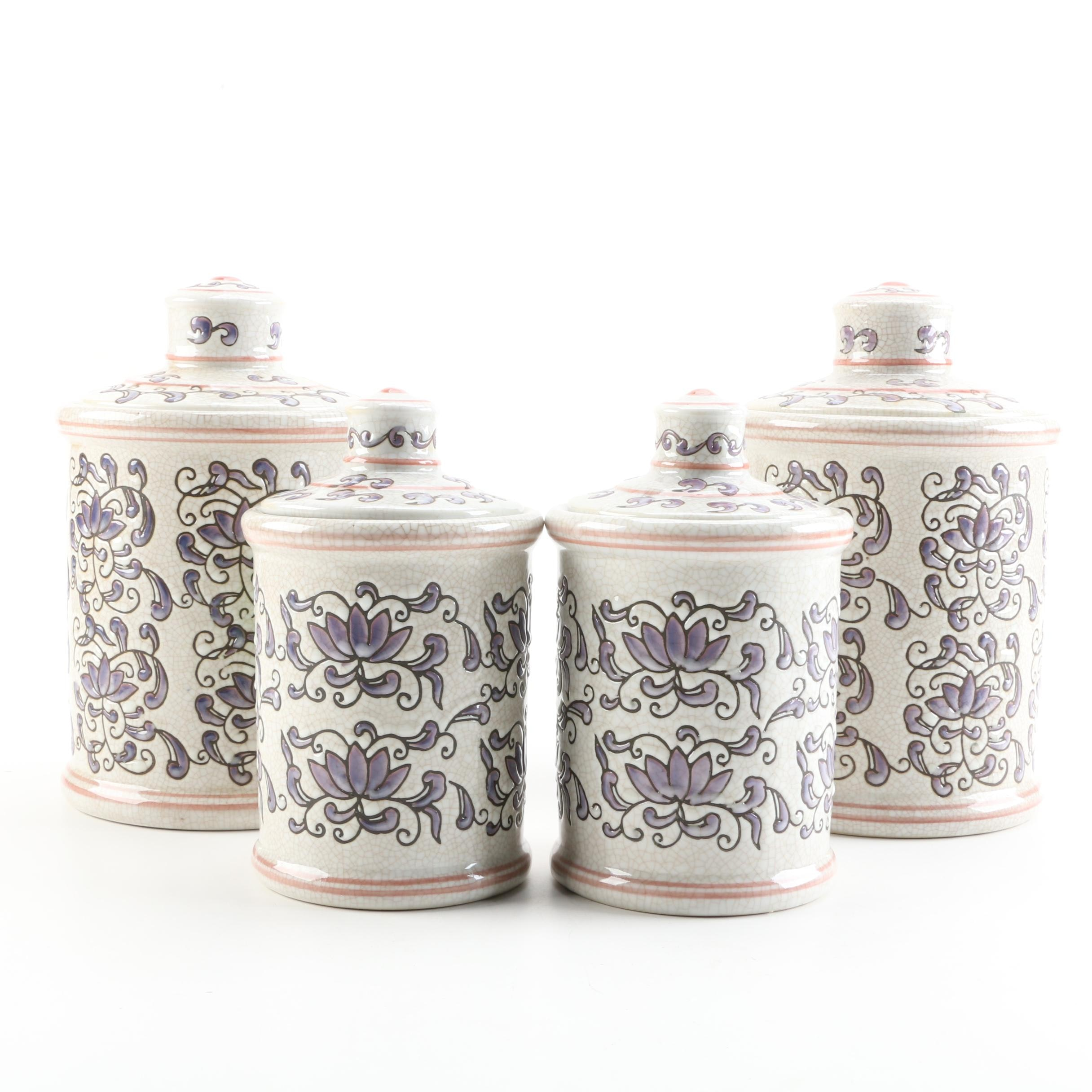Italian Style Ceramic Canisters