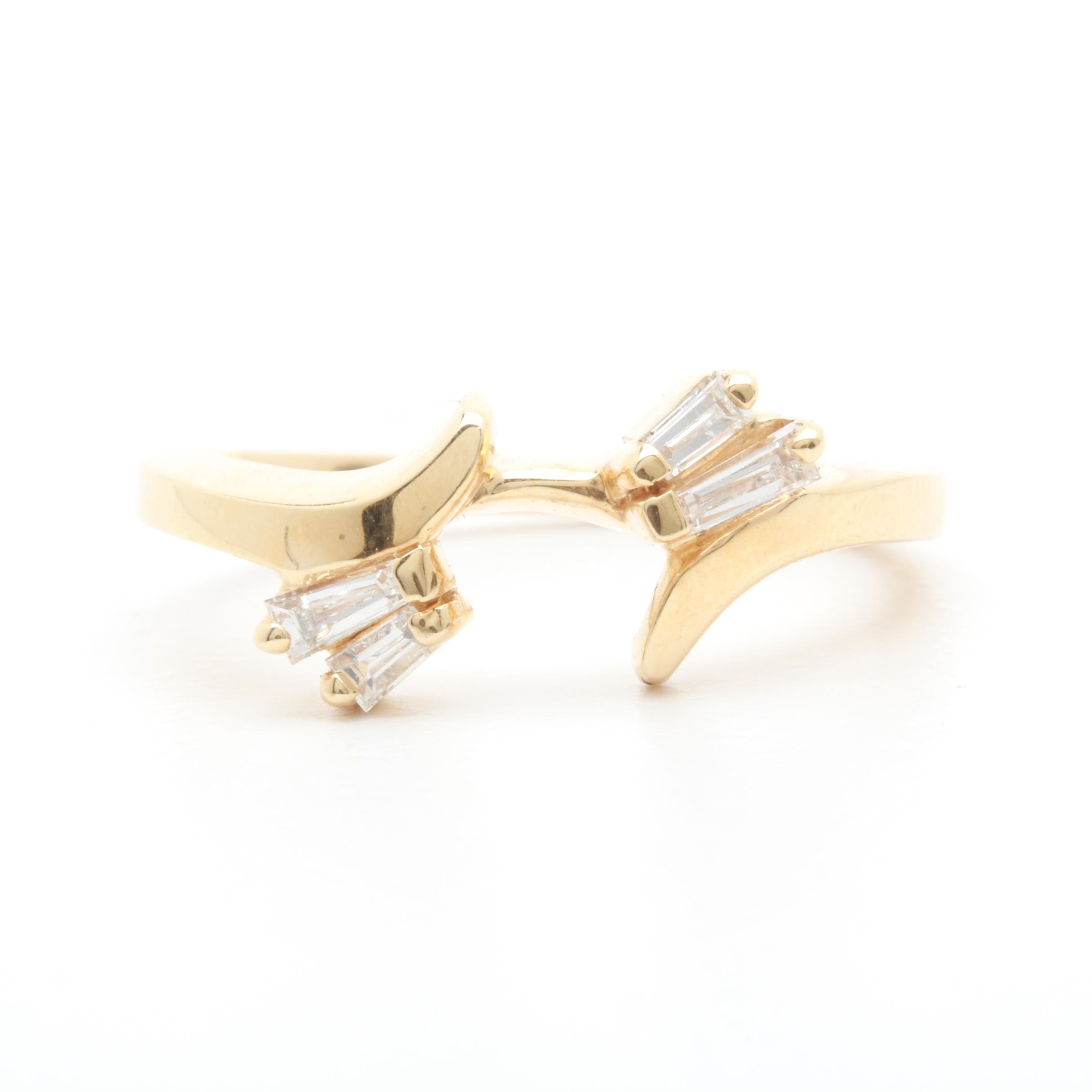 ArtCarved 14K Yellow Gold Diamond Ring Wrap