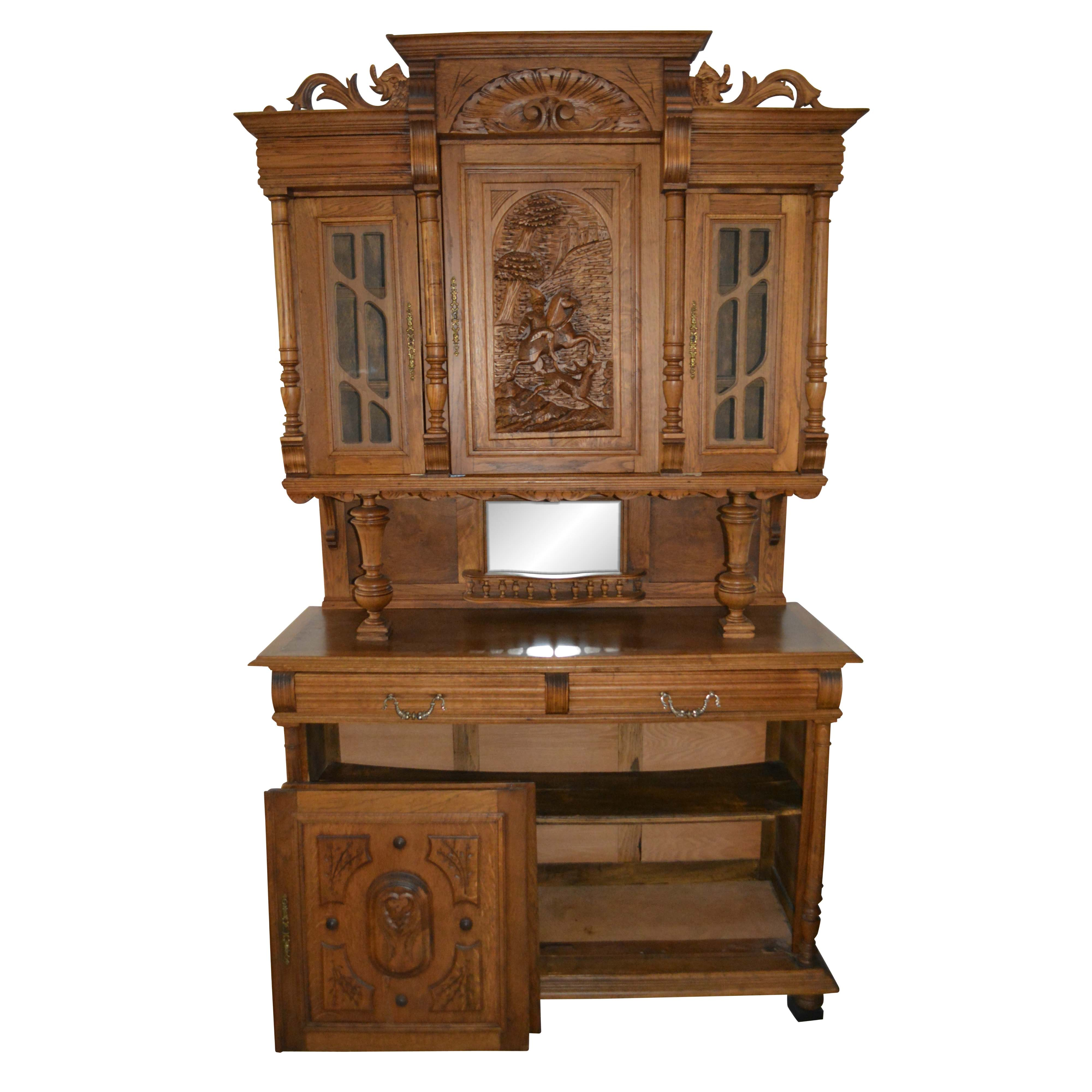 Black Forest Style China Cabinet