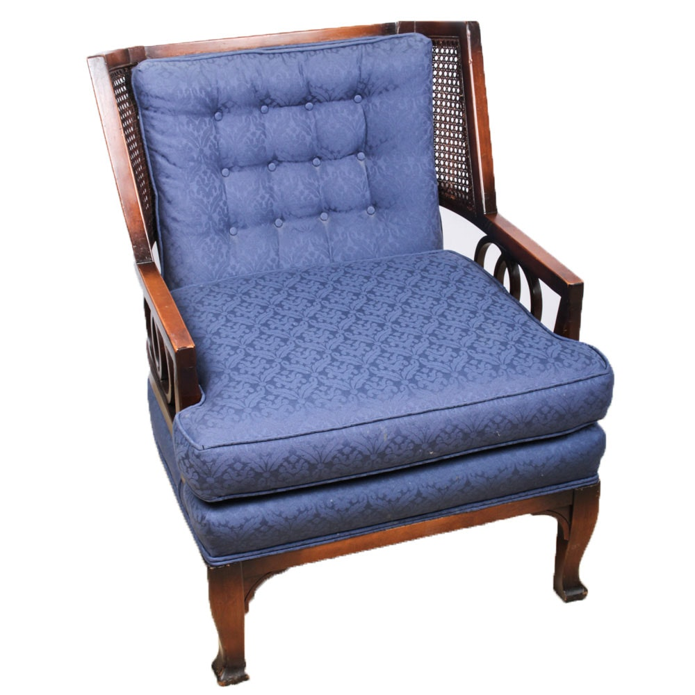 Vintage Marshall Fields Armchair with Caned Panels