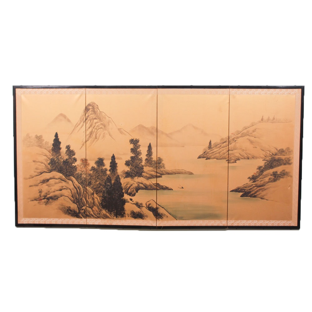Large Scale Shanshui Ink Painting Panel