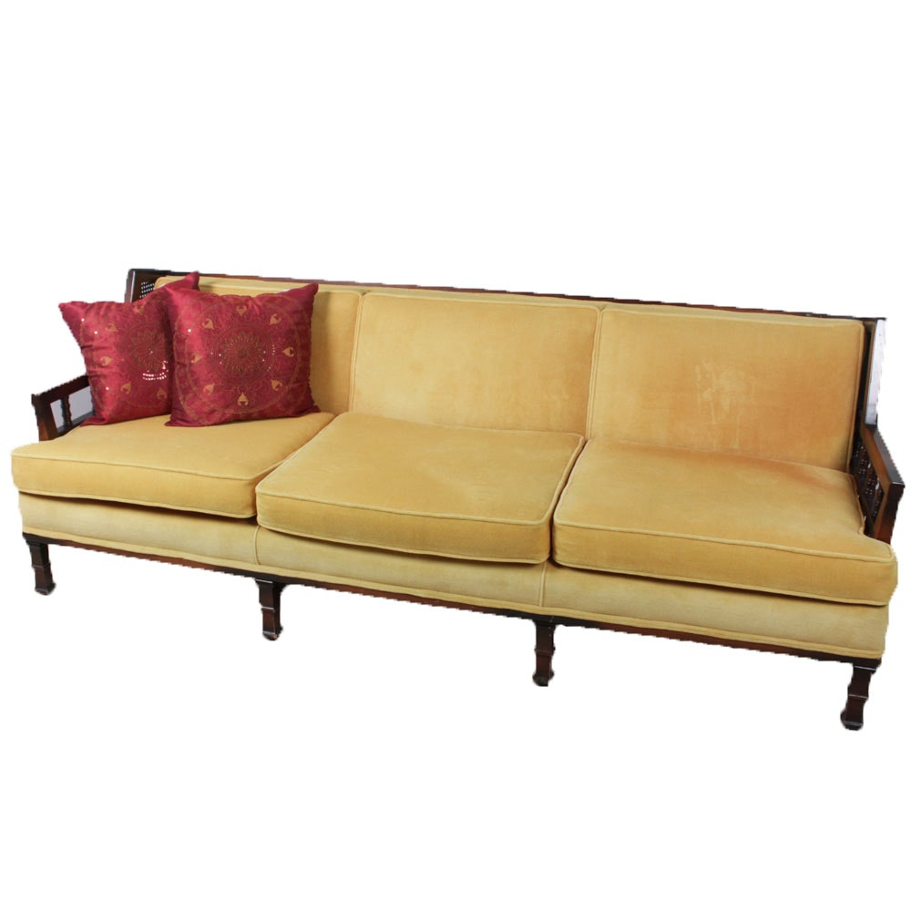 Mid Century Custom Upholstered Sofa