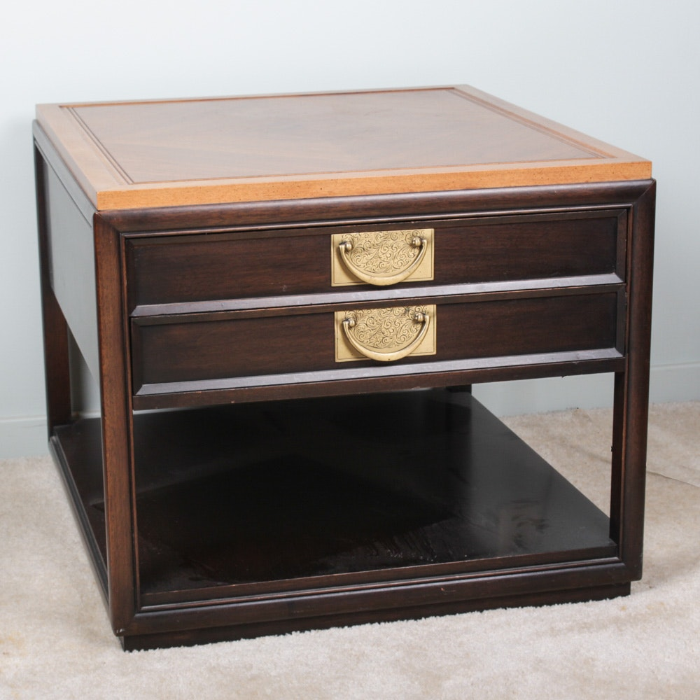 Hekman Furniture Two-Tone Wood Side Table