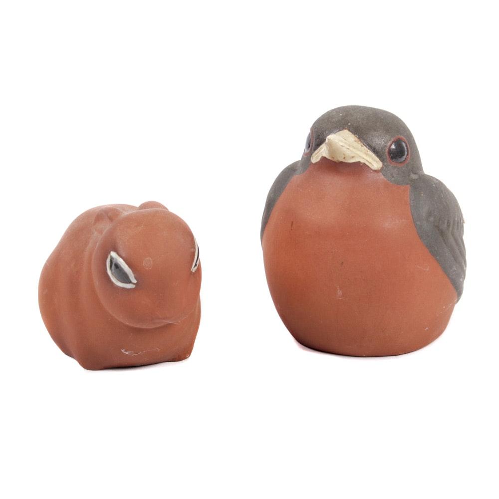 Nicodemus Ferrostone Robin and Cottontail Bunny