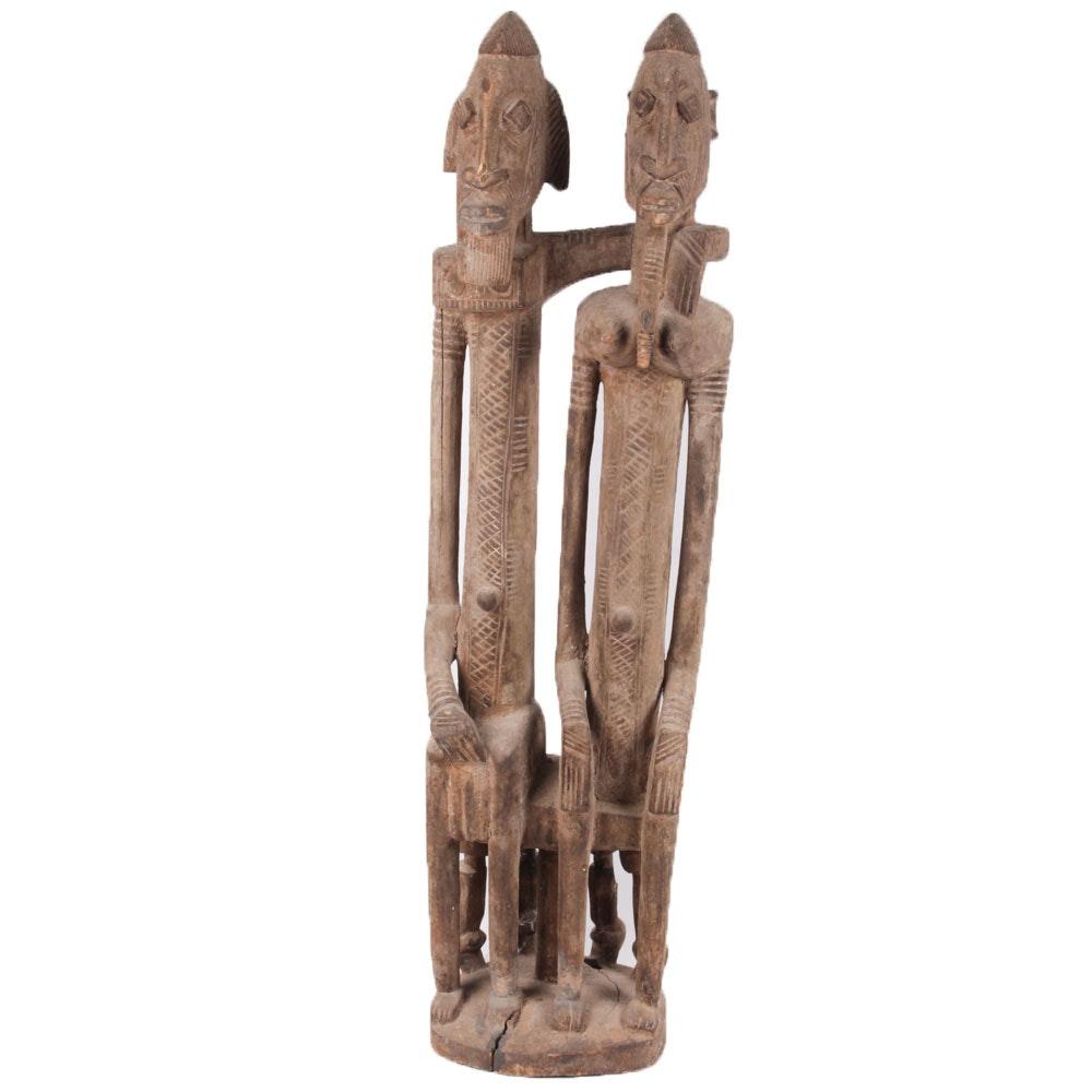 Kenyan Maasai-Style Wooden Sculpture