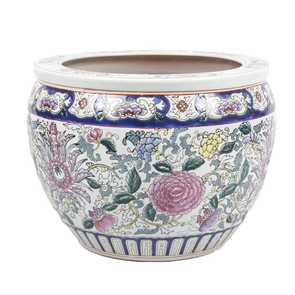 Chinese Ceramic Cachepot Planter