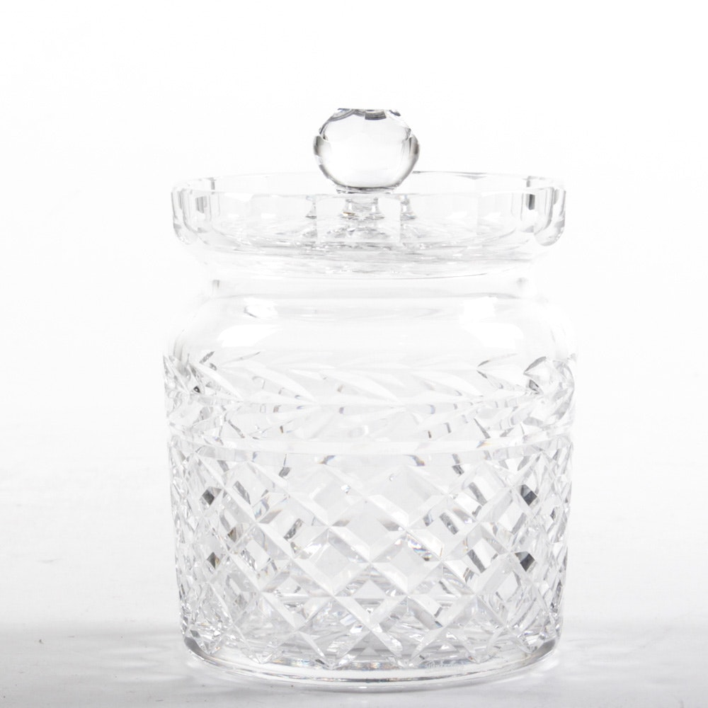 "Waterford Crystal ""Glandore"" Biscuit Jar"
