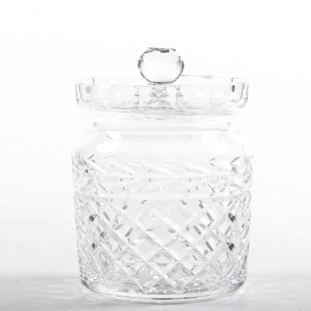 """Waterford Crystal """"Glandore"""" Biscuit Jar"""