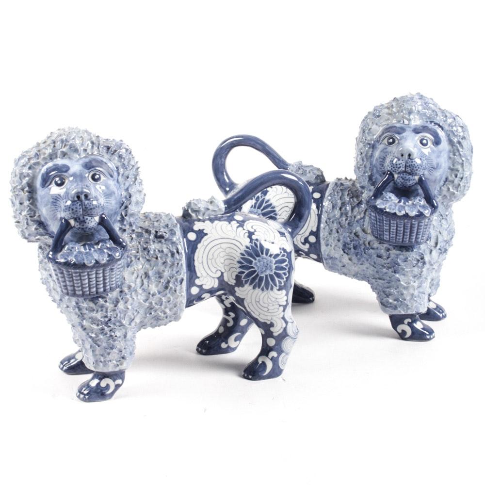 Maitland-Smith Ceramic Lion Figurines