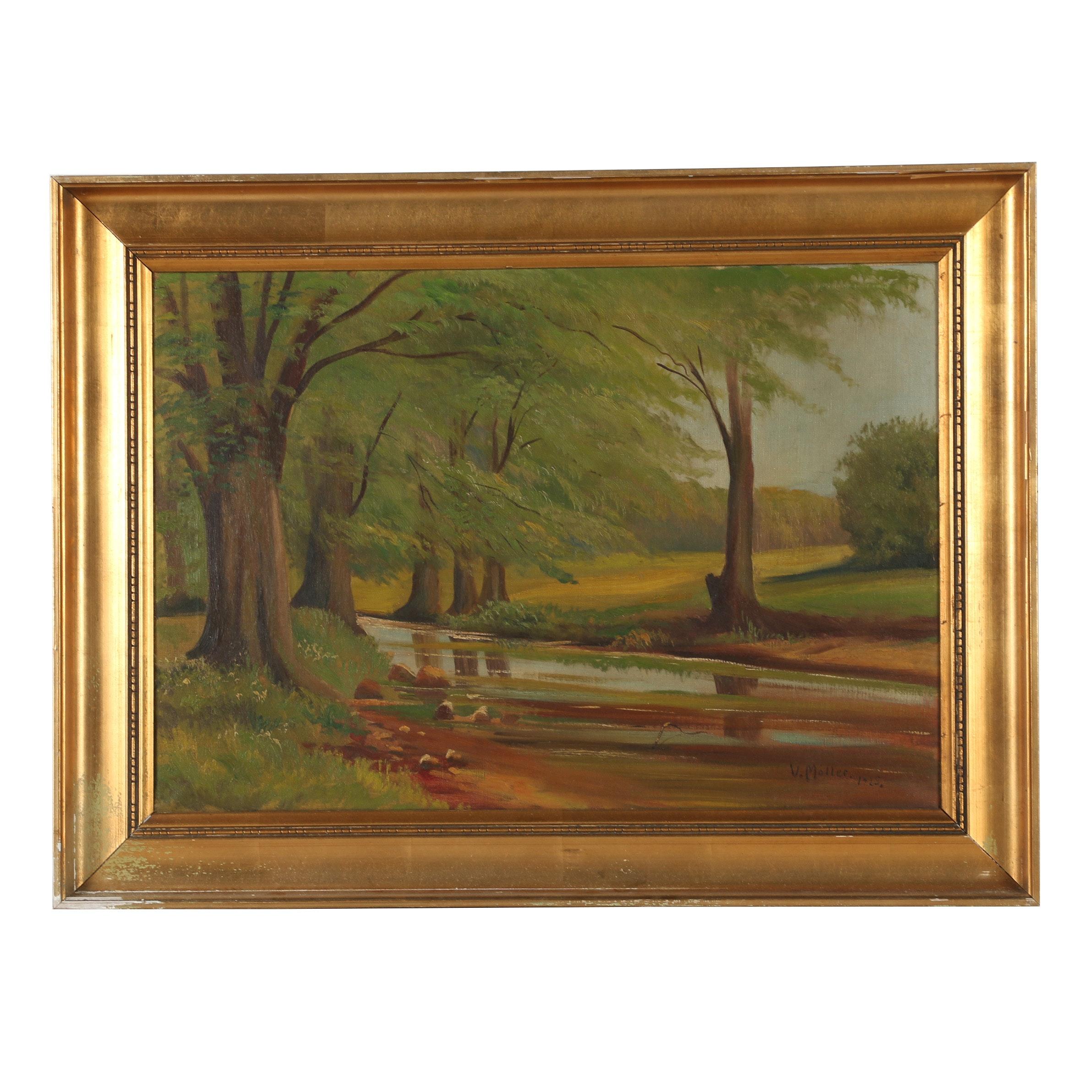 V. Moller Oil Painting