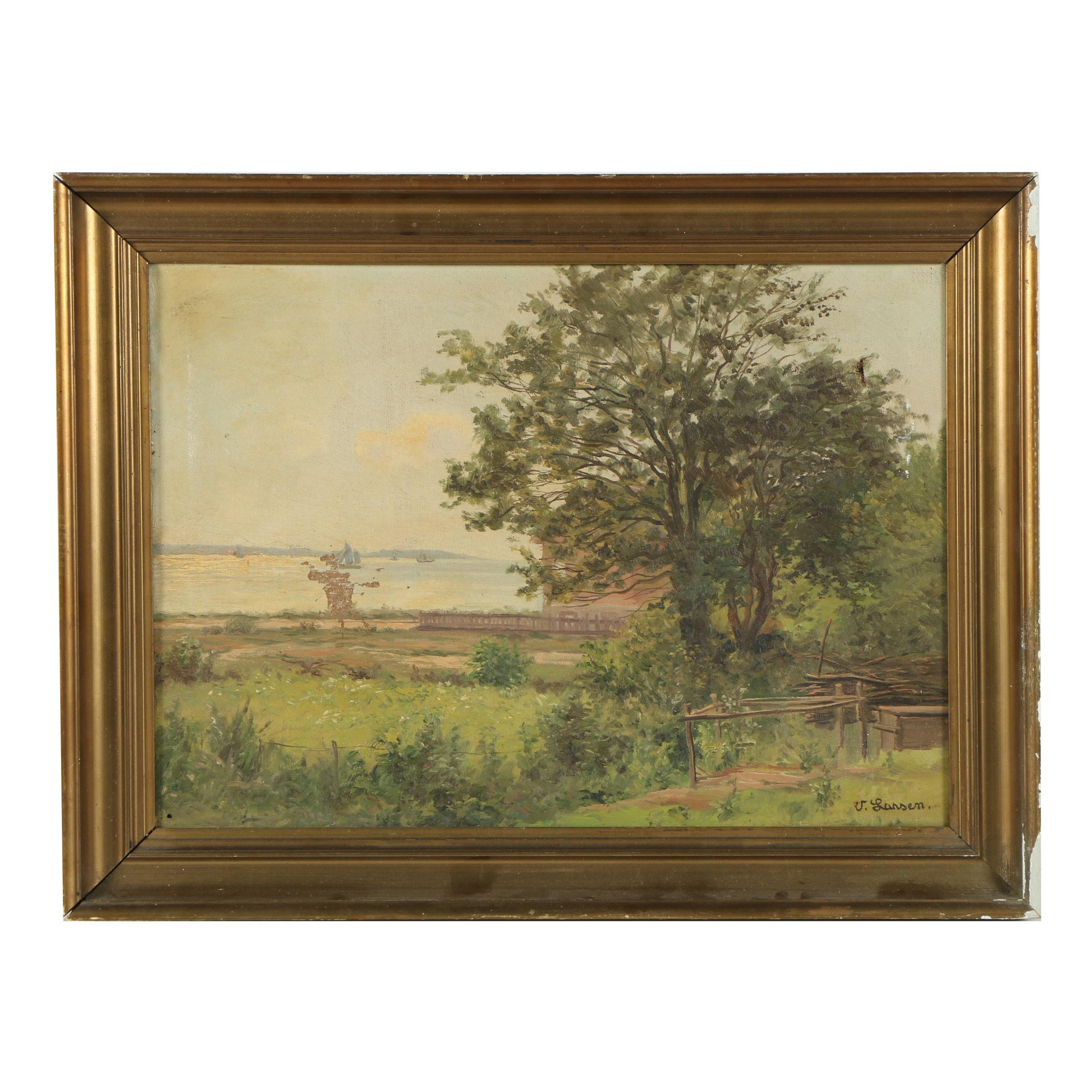 U. Larsen Oil Painting